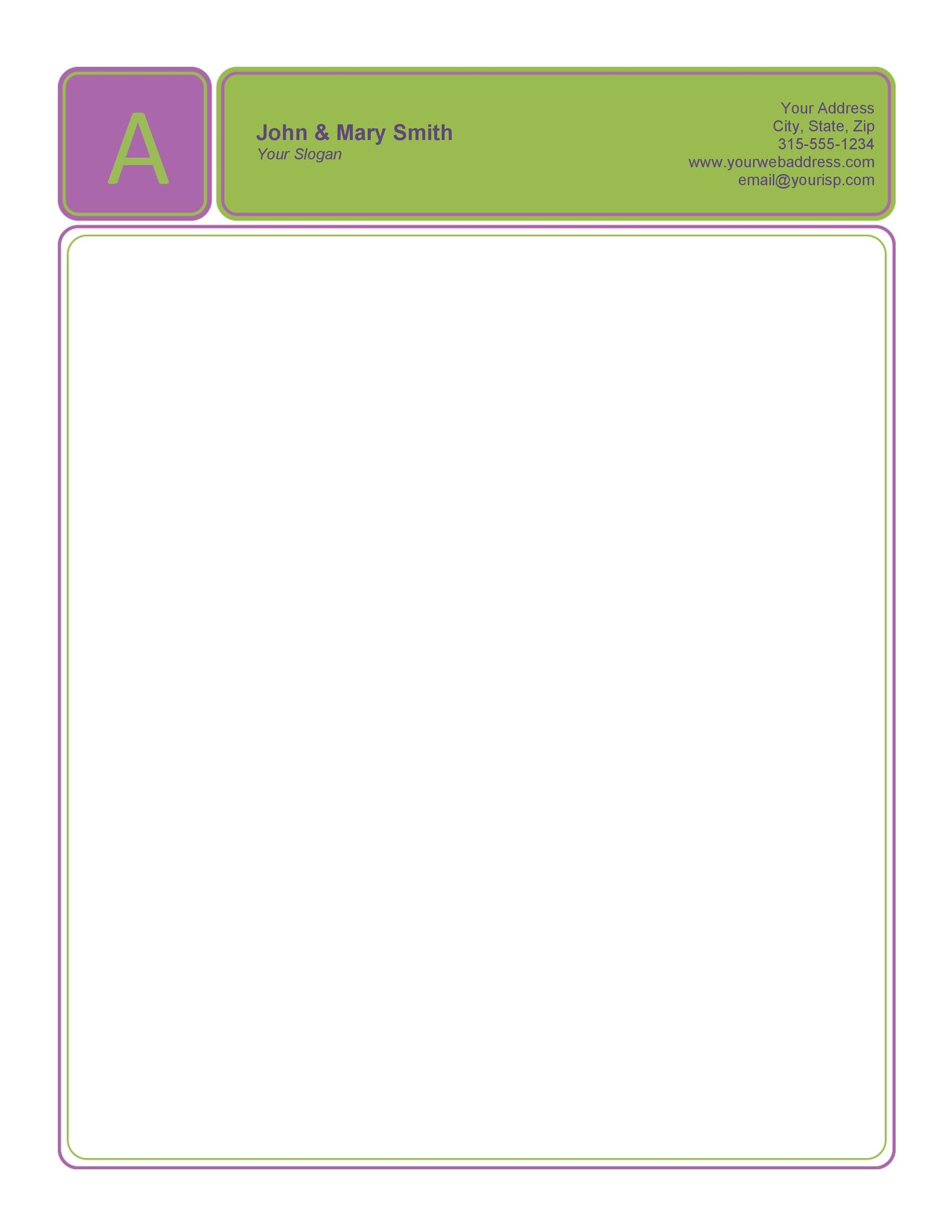 45 Free Letterhead Templates Examples Company Business Personal – Headed Paper Template Free