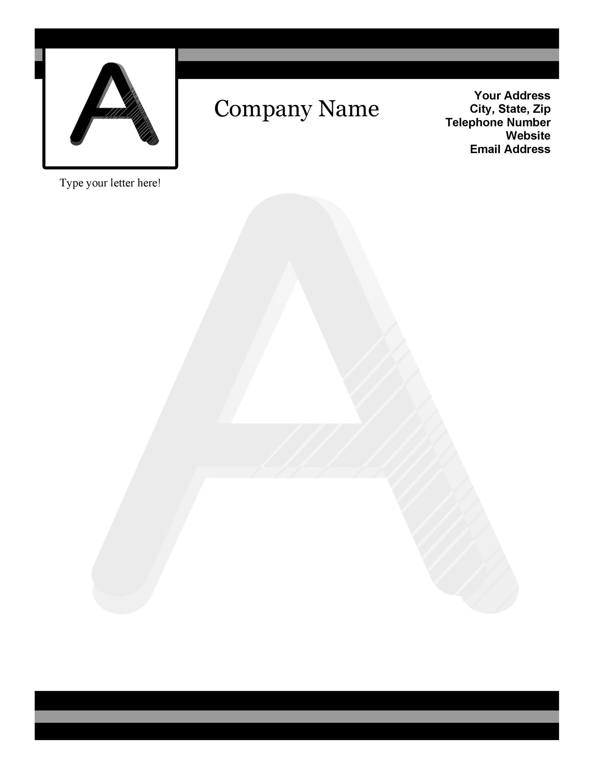 45 Free Letterhead Templates Examples Company Business Personal – Free Printable Business Letterhead Templates