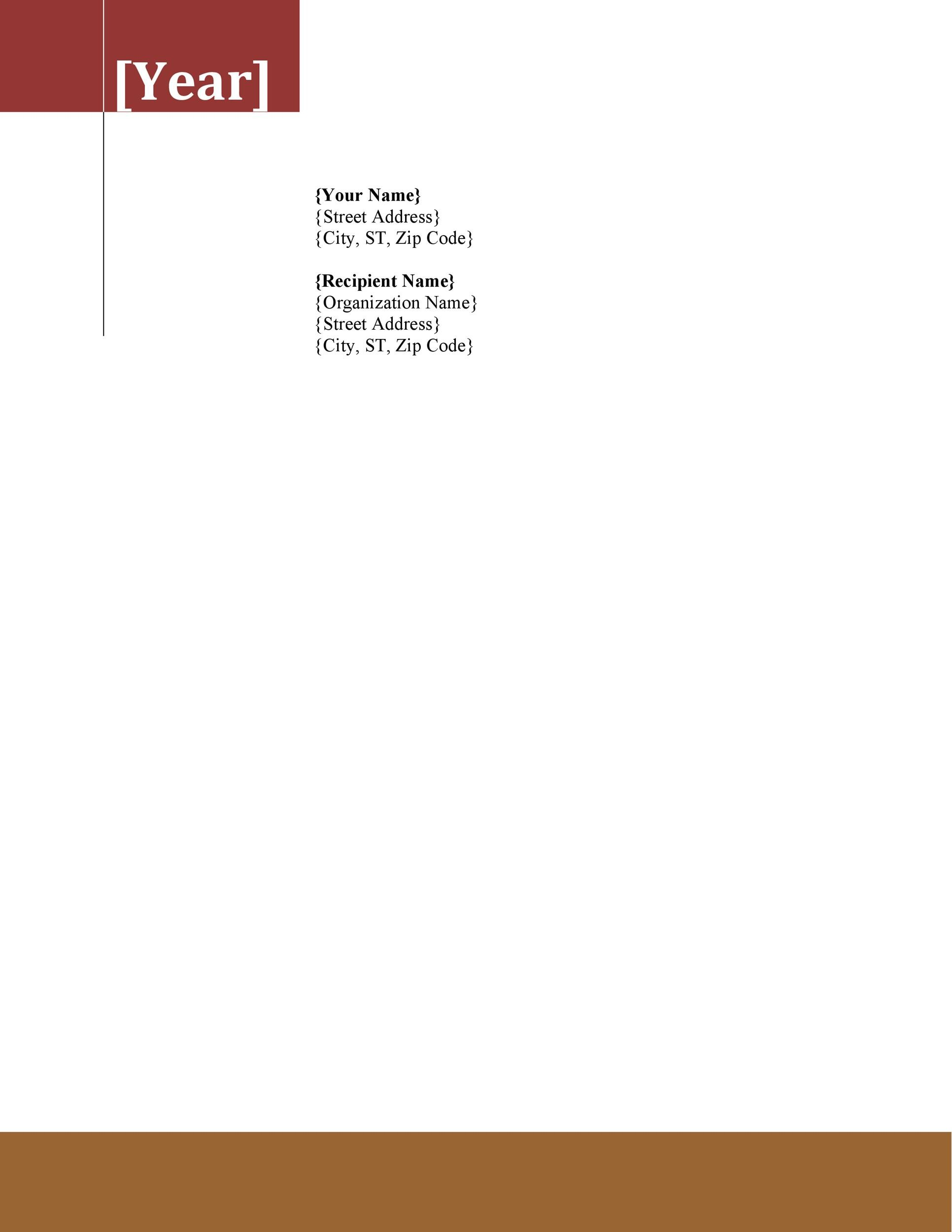 Catering Services Letterhead Template