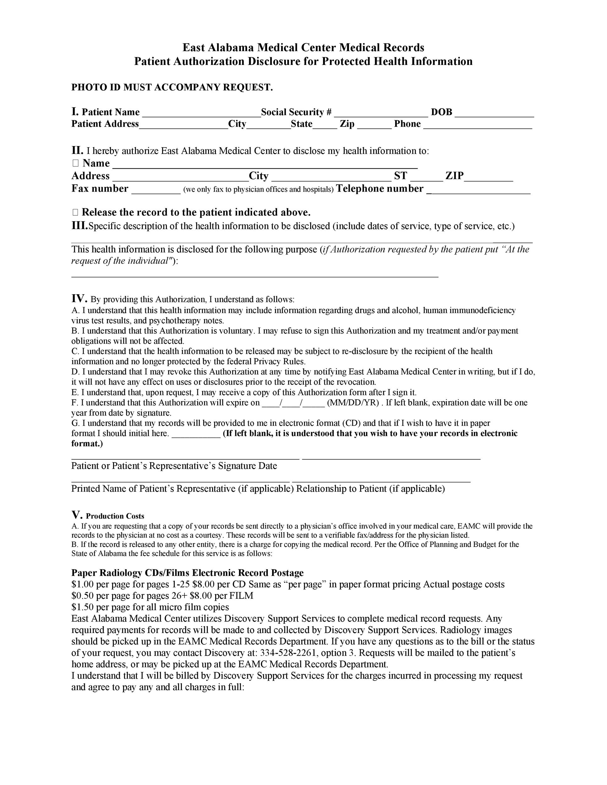 Medical Records Request Forms. Records Release Request Form