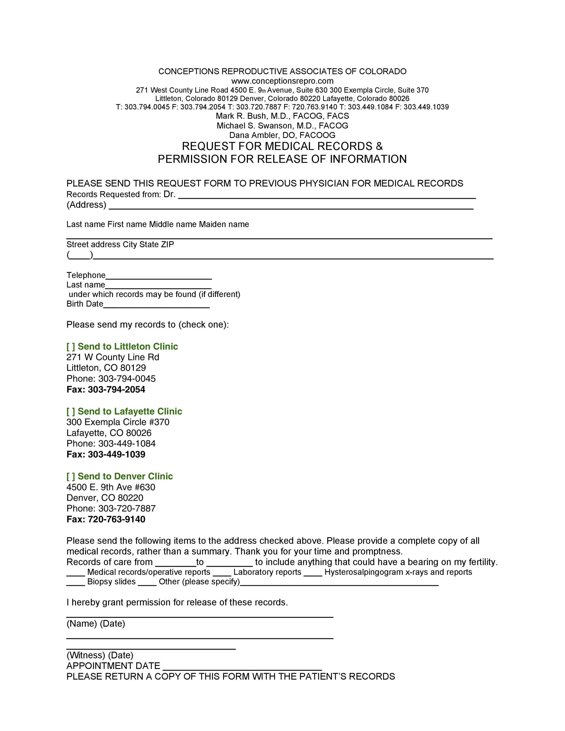 Free Medical Release Form 24