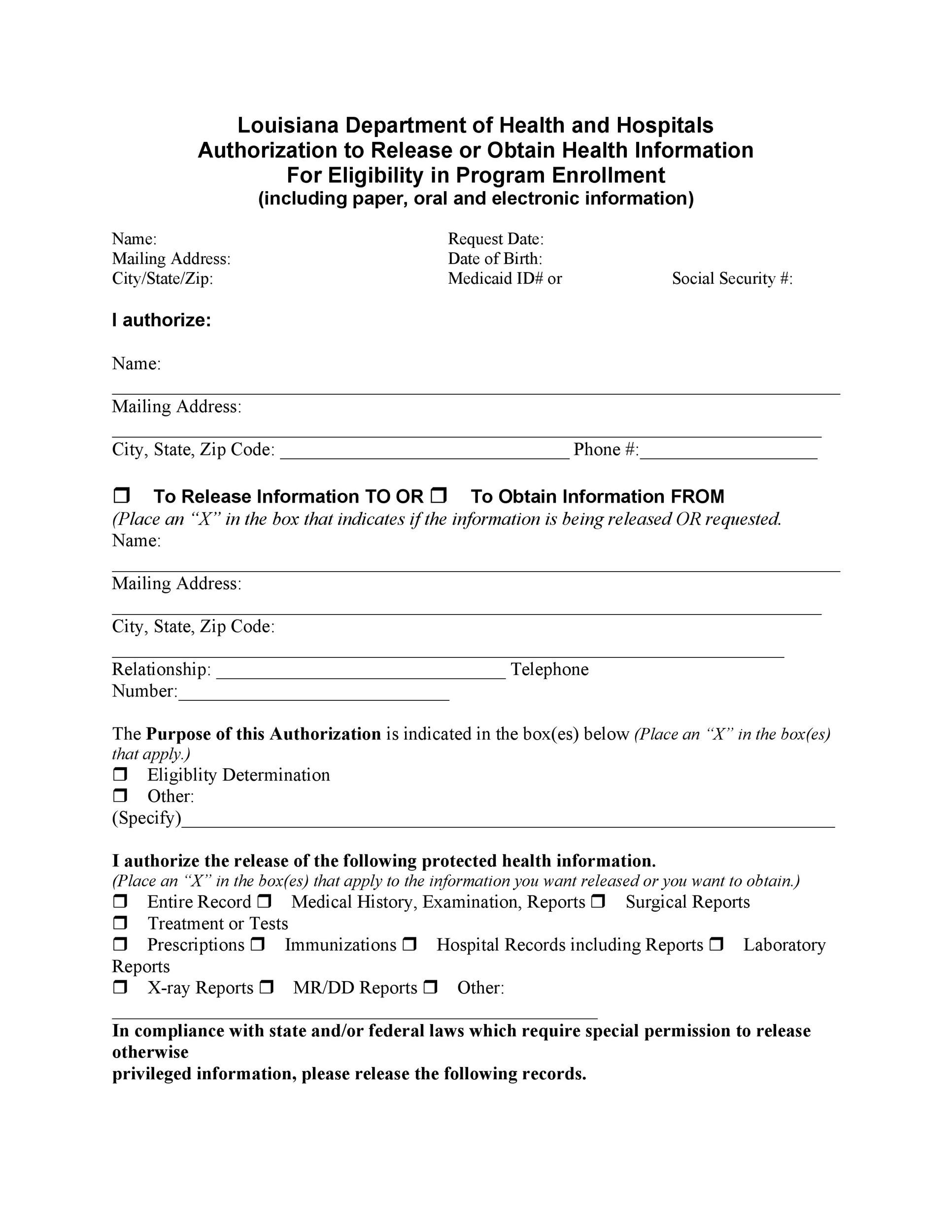 Free Medical Release Form 30