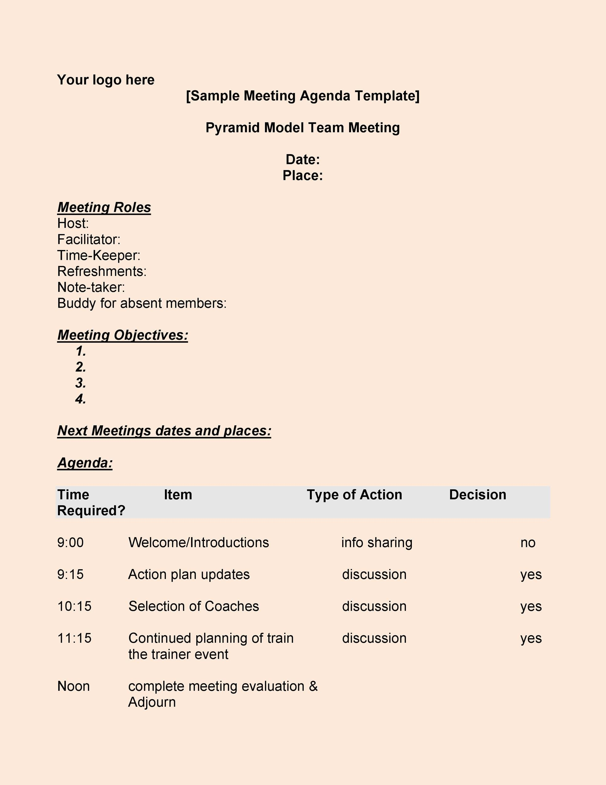 free meeting agenda template 13