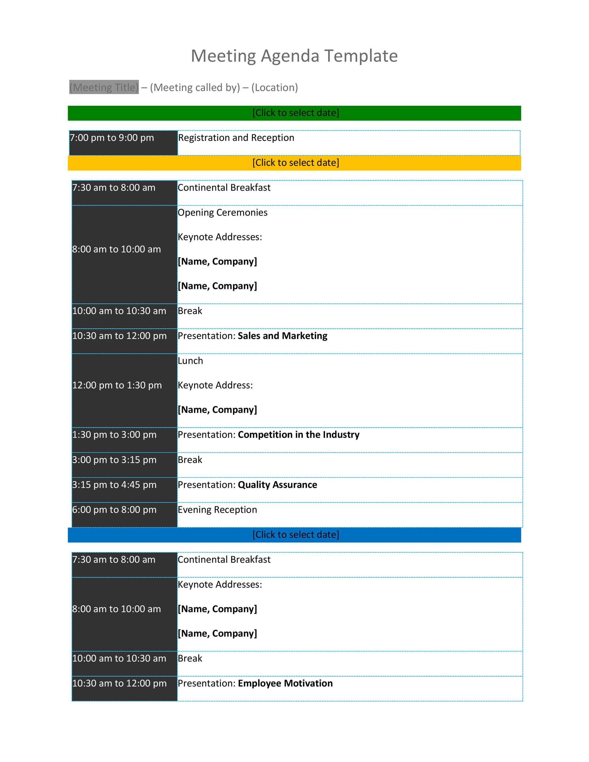 Free Meeting Agenda Template 15