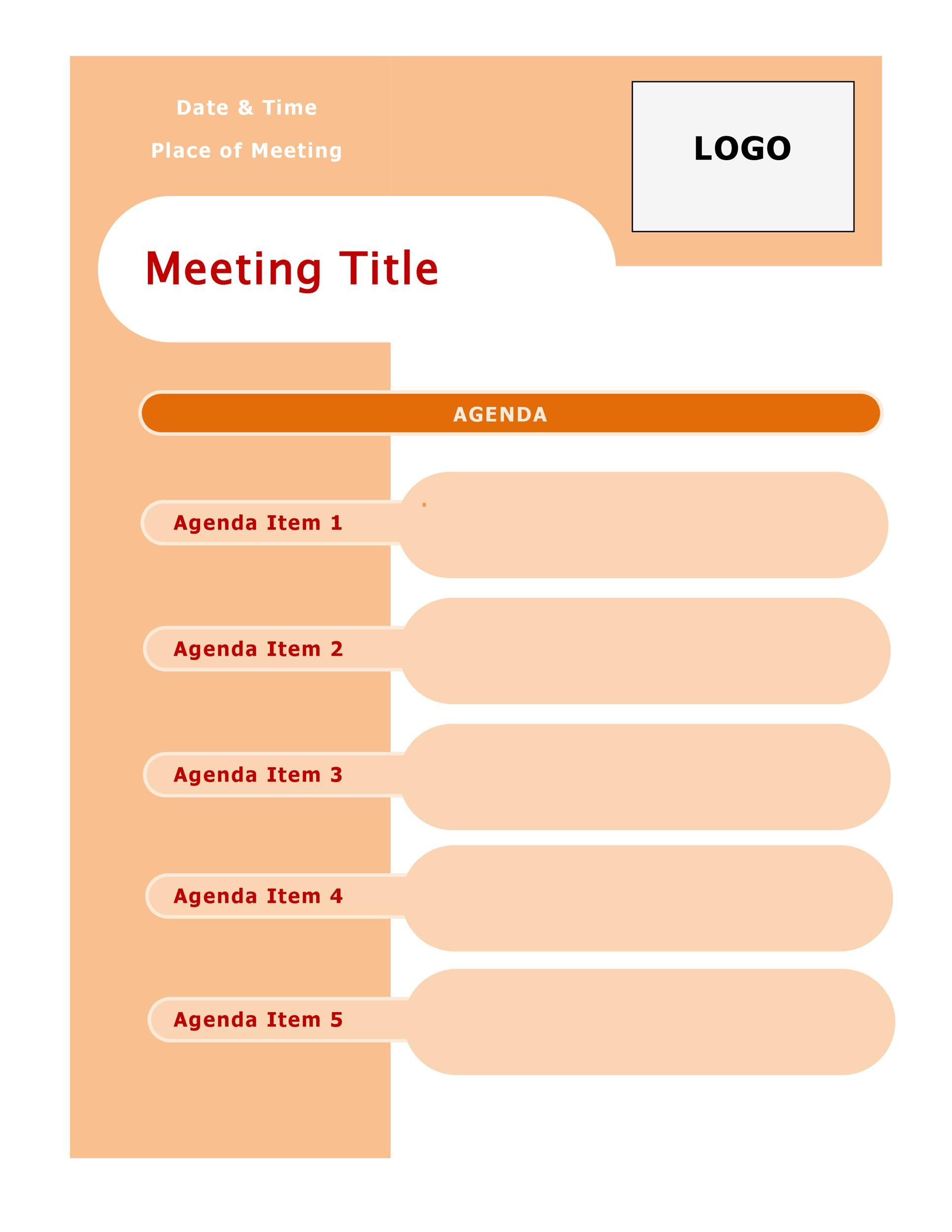 Sample Staff Meeting Agenda Effective Meeting Agenda Templates