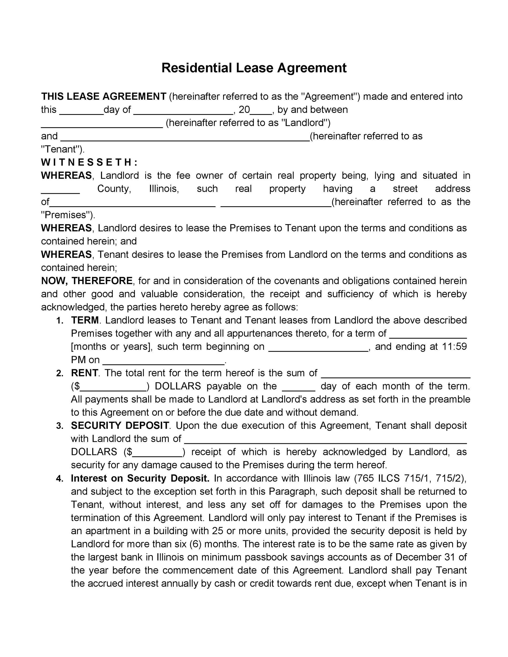 42 Rental Application Forms Lease Agreement Templates – Rental Lease Agreements