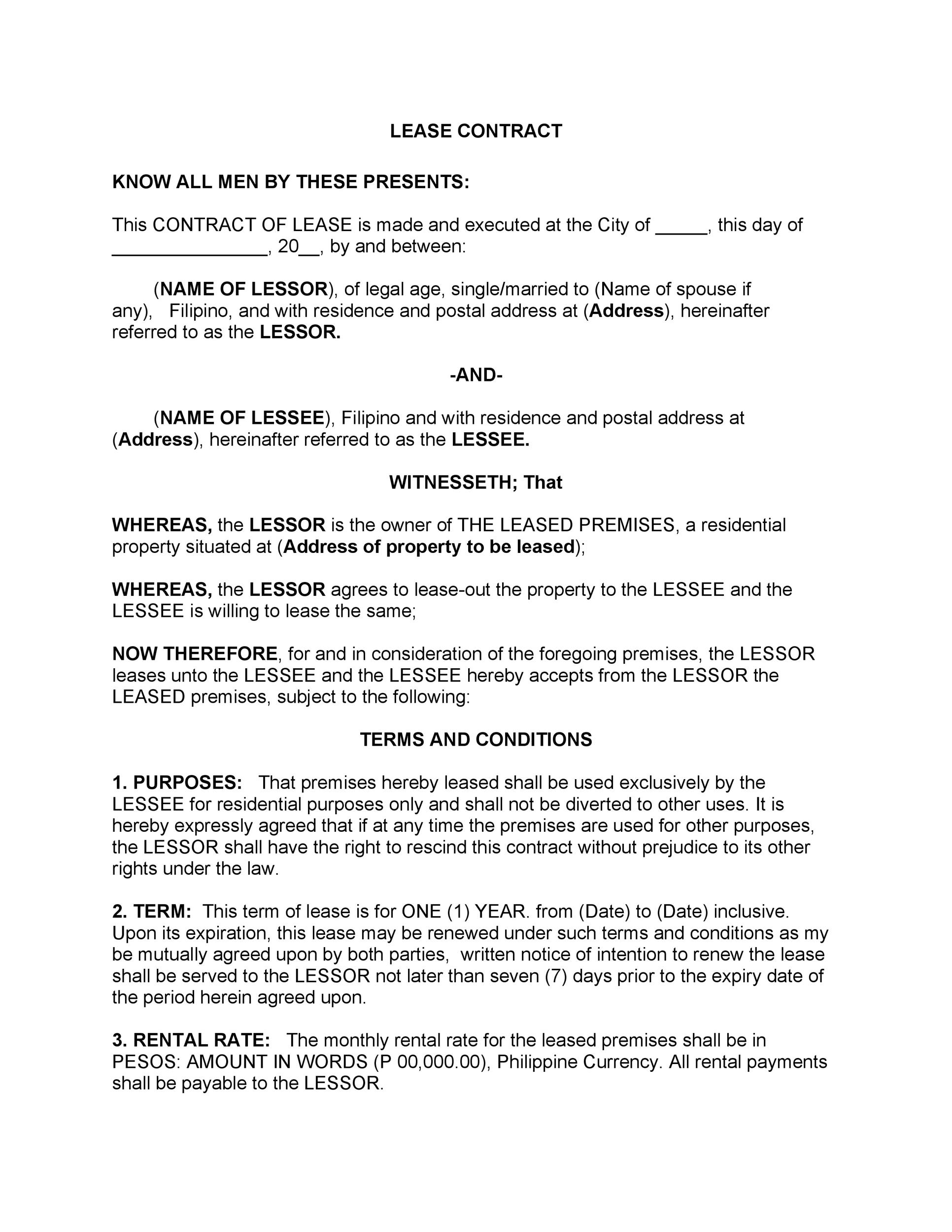 Sublease Contract Space Sublease Agreement Template Pdf Format