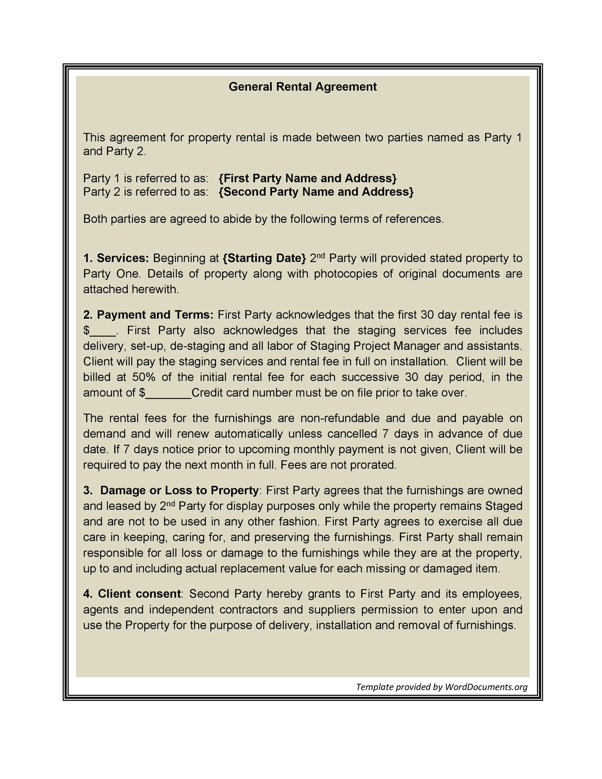 Free Rental Application Template 20
