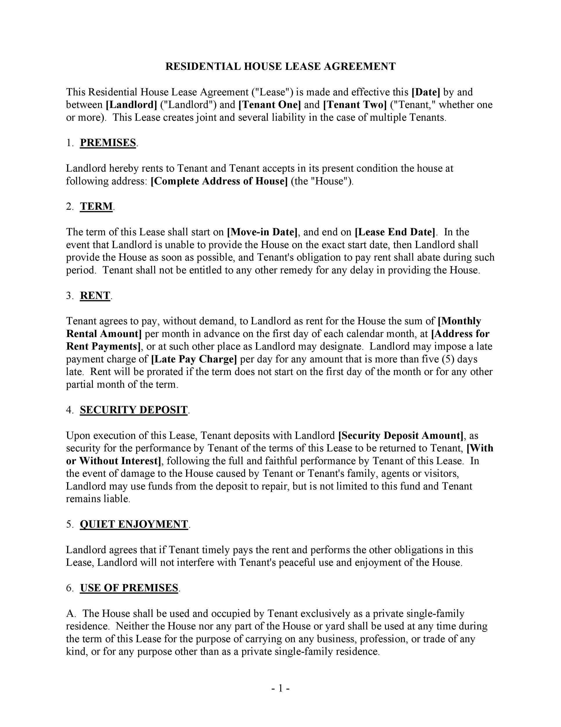 Free Rental Application Template 26