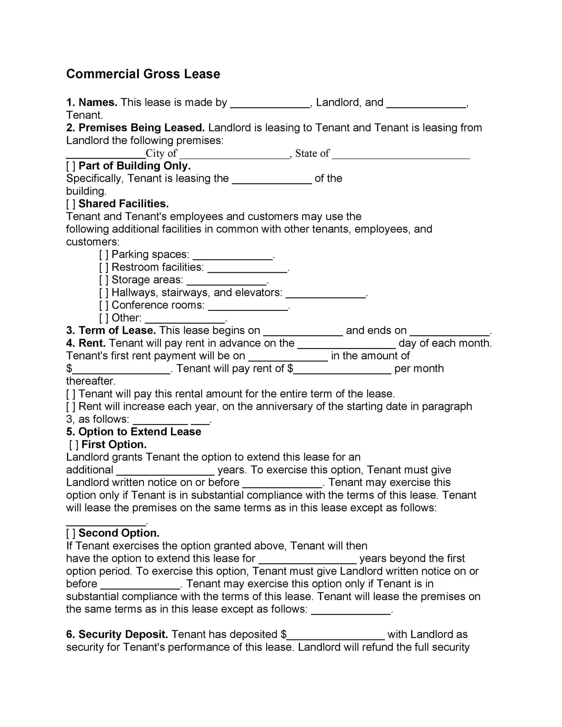 42 Rental Application Forms Lease Agreement Templates – Sample Commercial Security Agreement Template