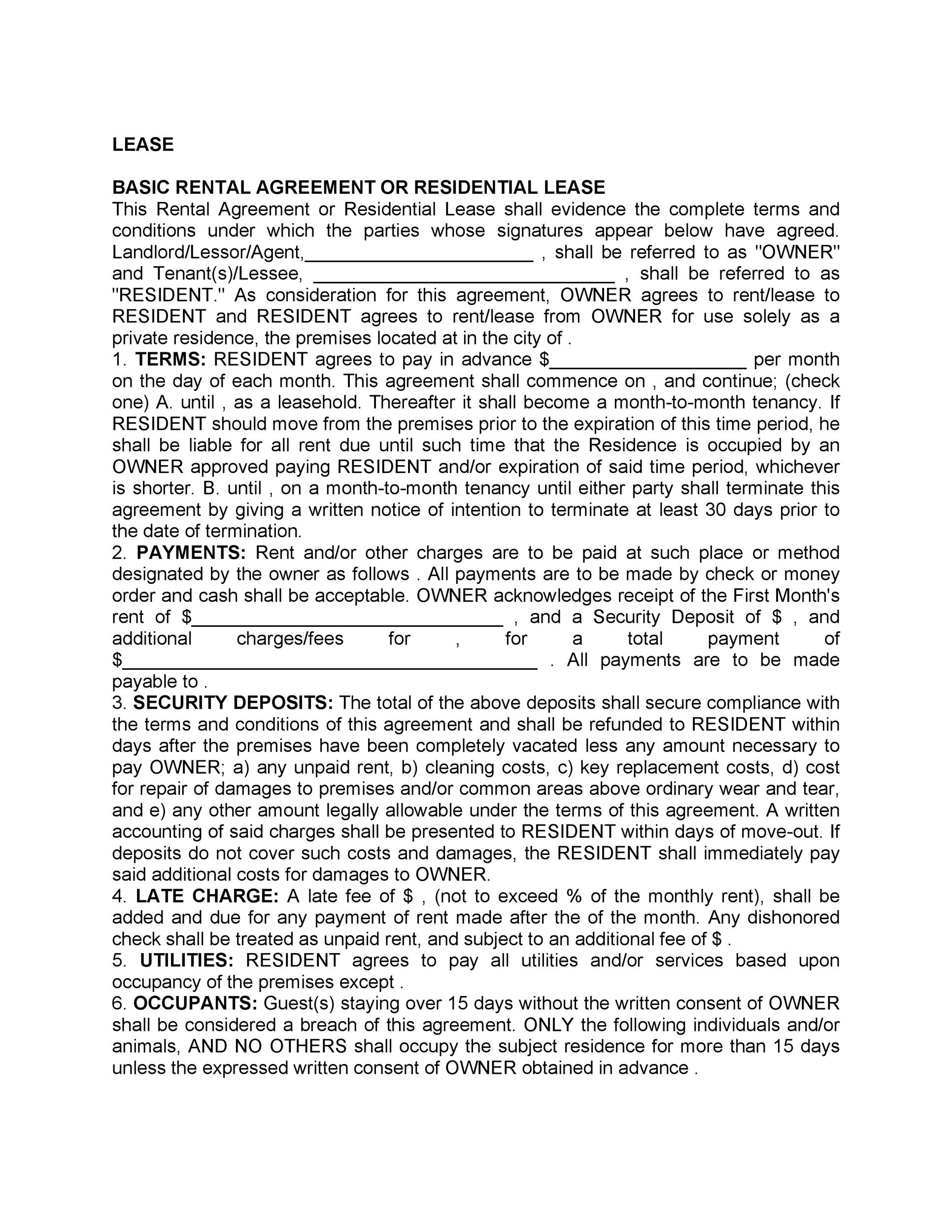 Free Rental Application Template 37