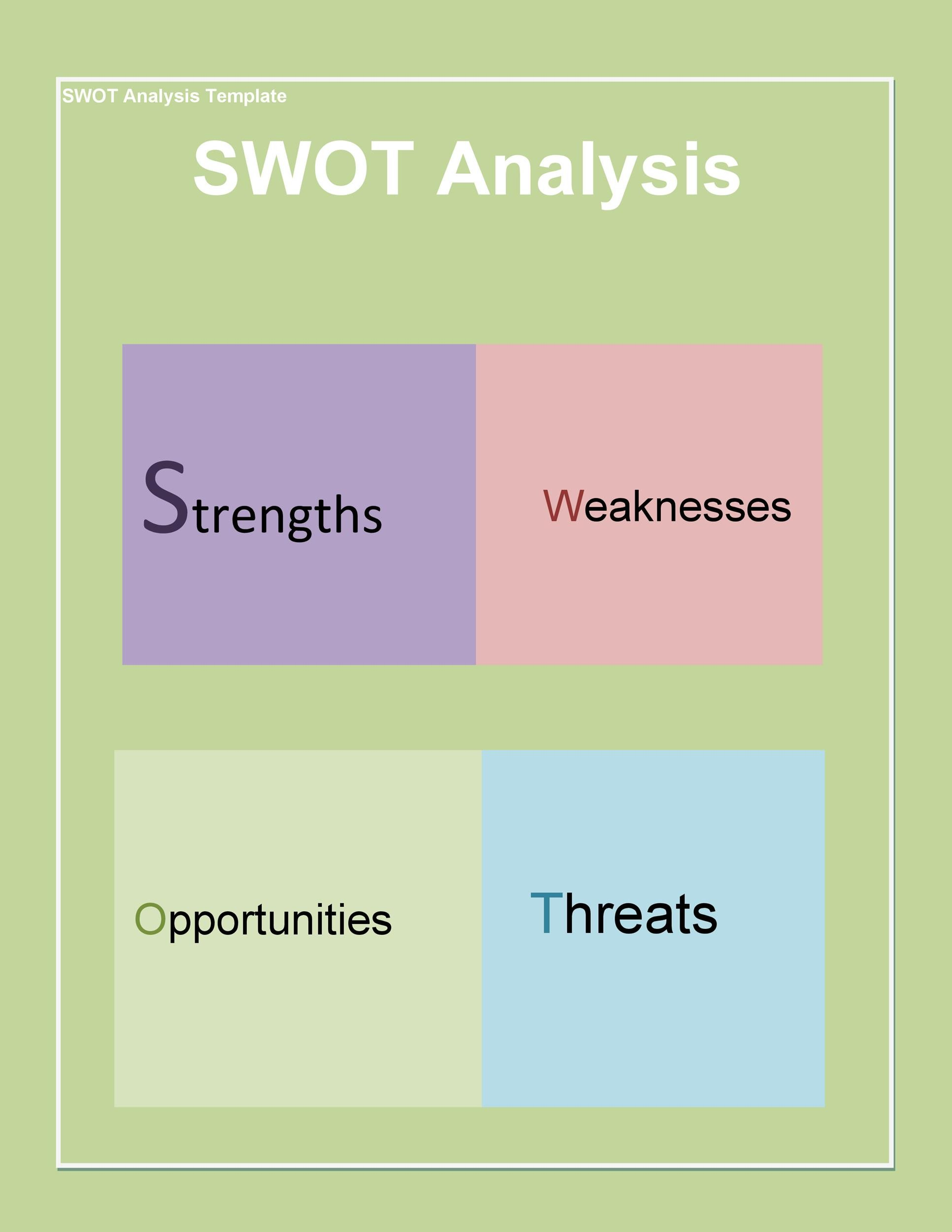 Free Swot Analysis Template 26