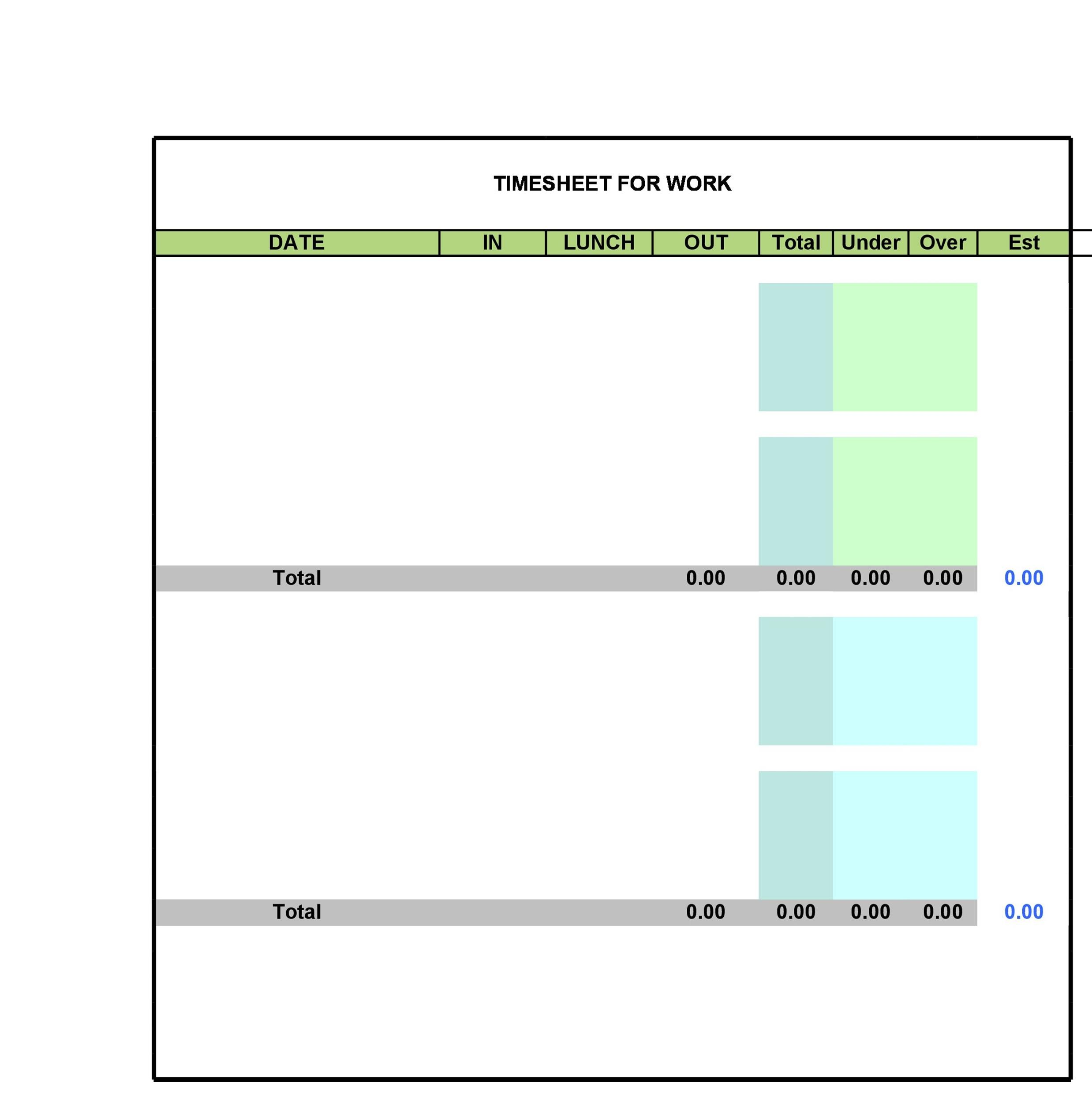 Free Time sheet Template 12