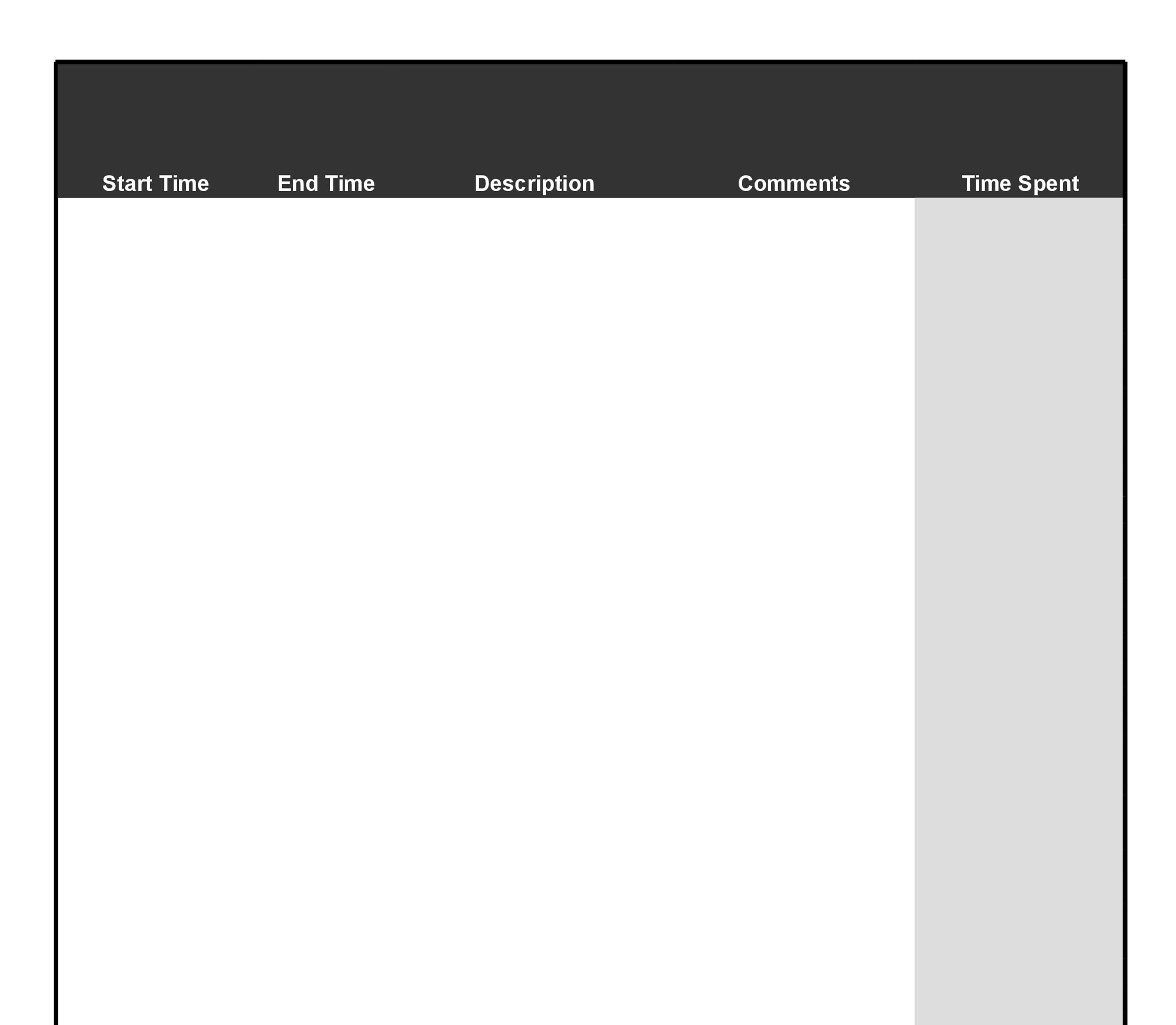 Free Time sheet Template 18
