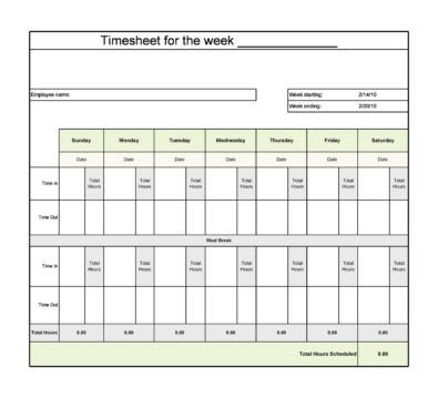 Timesheet Templates