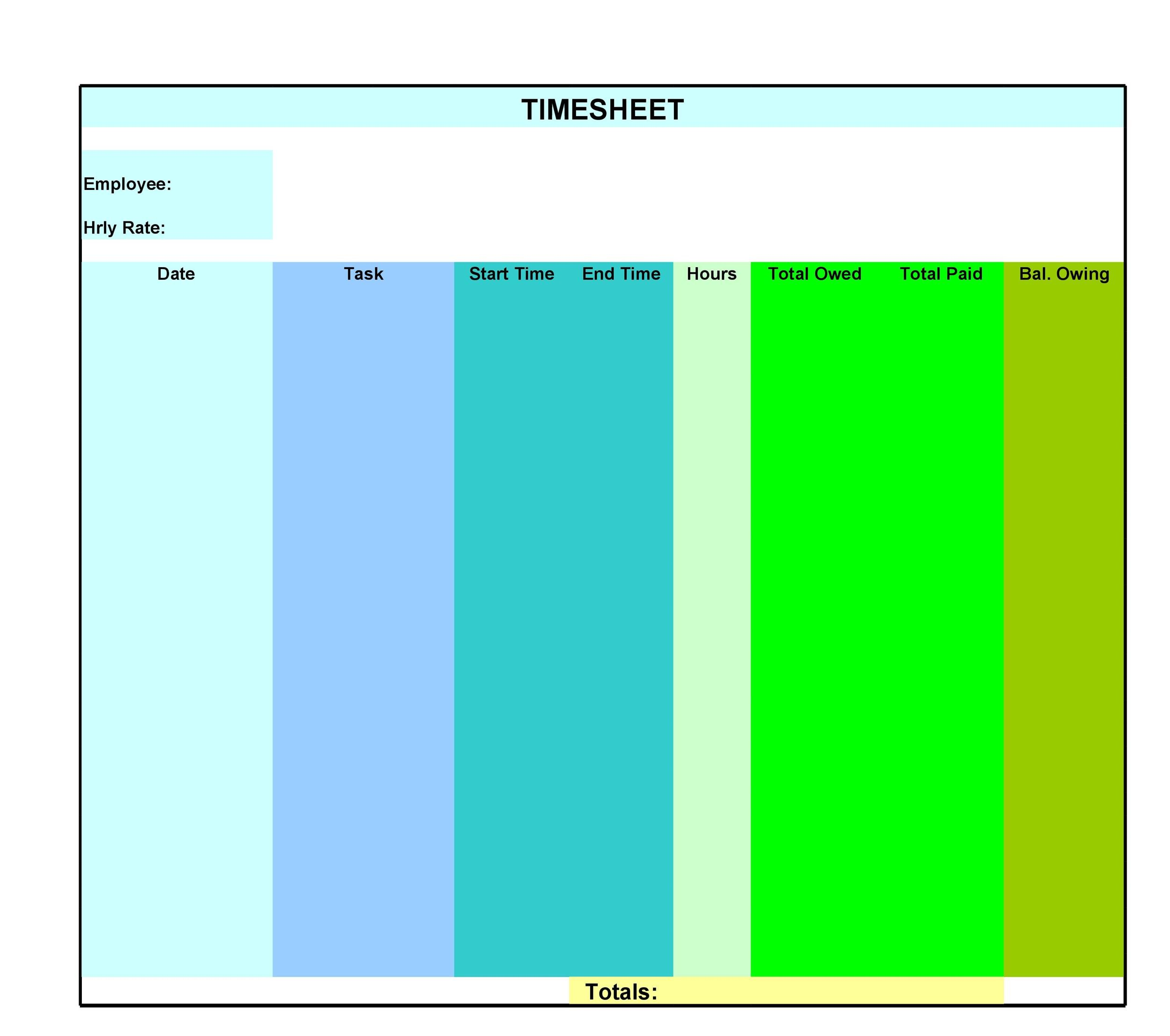 Free Time sheet Template 23