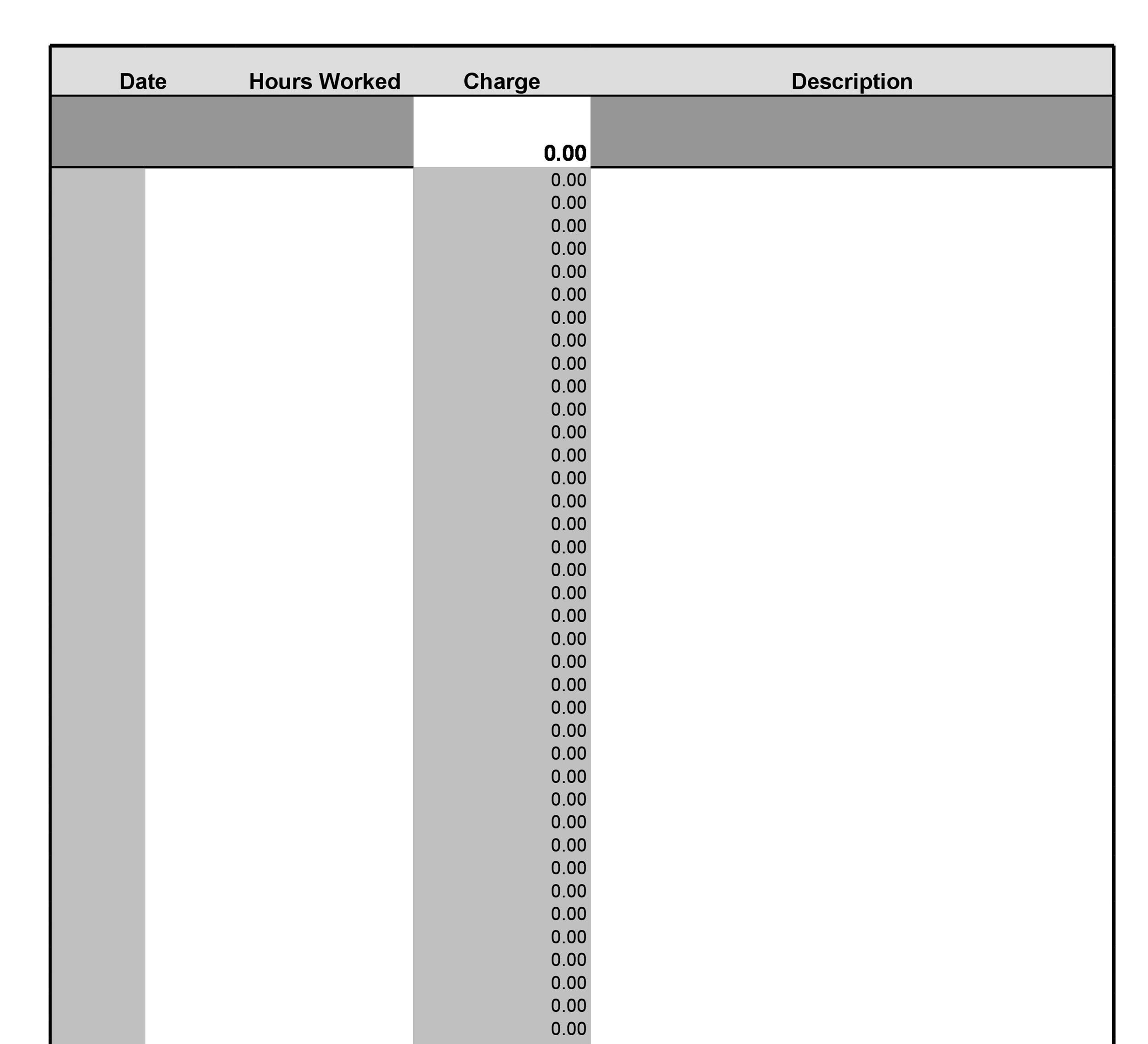 Timesheet Template 27
