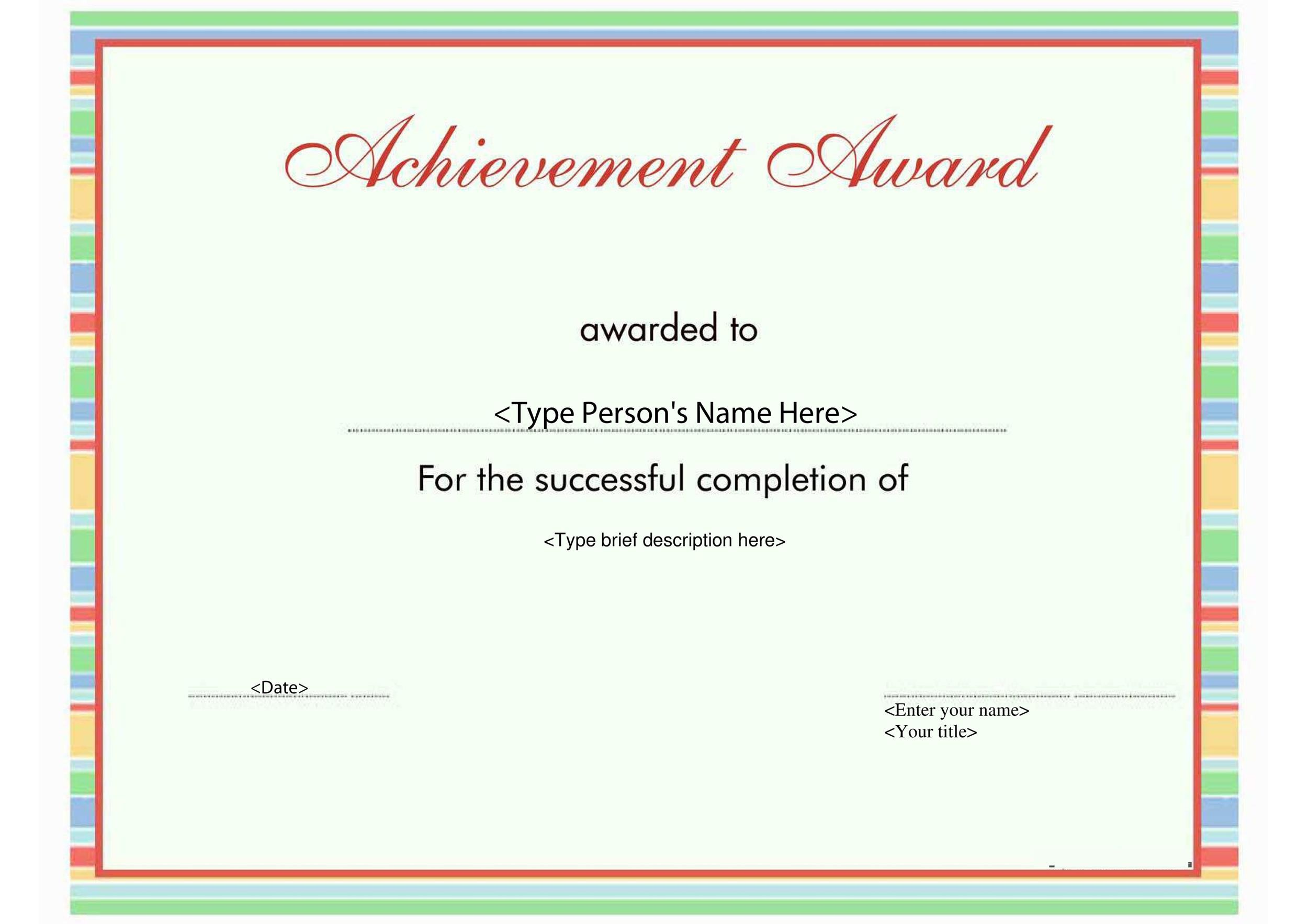 photograph relating to Printable Awards for Students referred to as 50 Extraordinary Award Certification Templates ᐅ Template Lab
