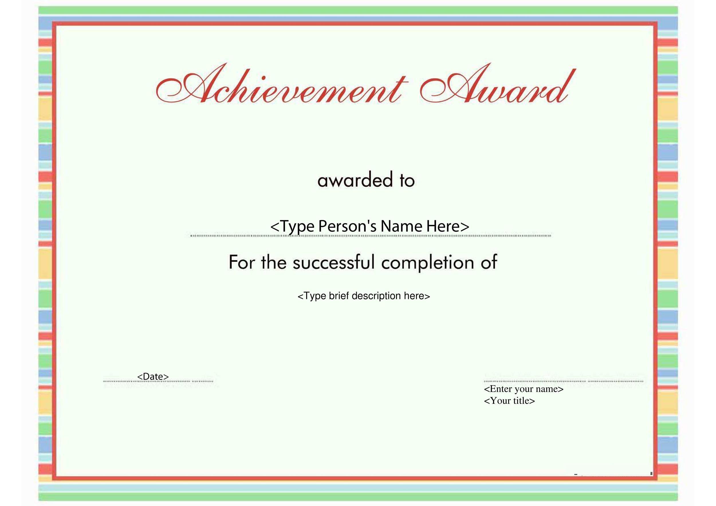 Free Award Template 01