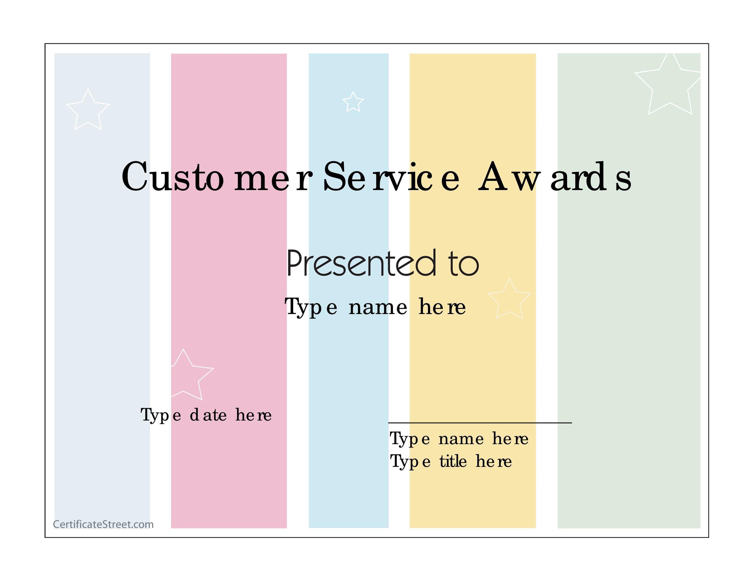 Free Award Template 02