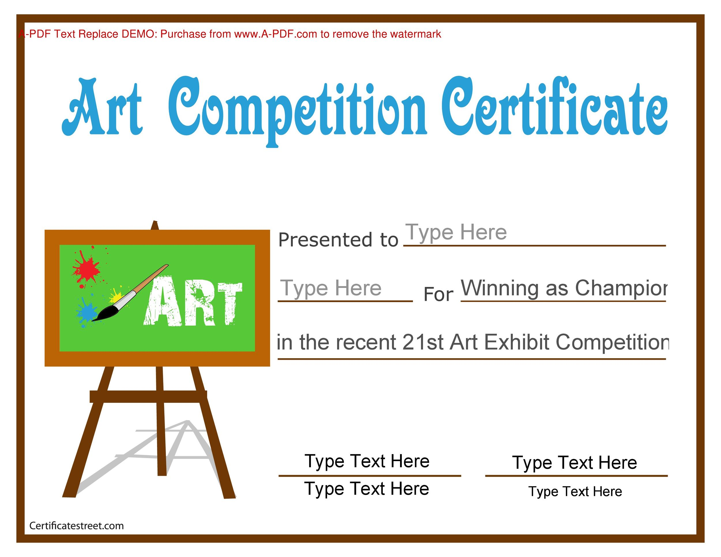 Sample Award Certificates Scholarship Certificate Template Pdf