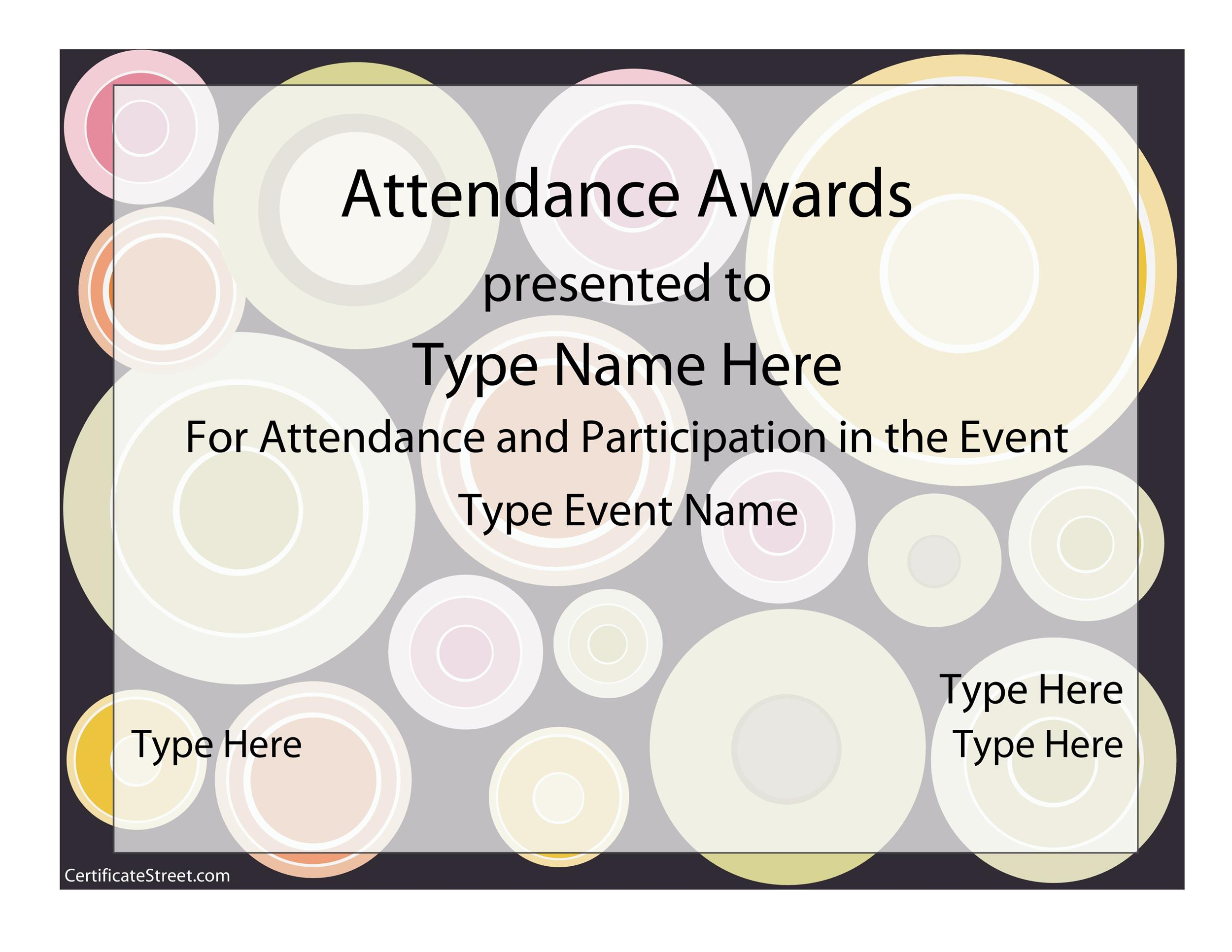 Printable Award Template 04  Award Word Template