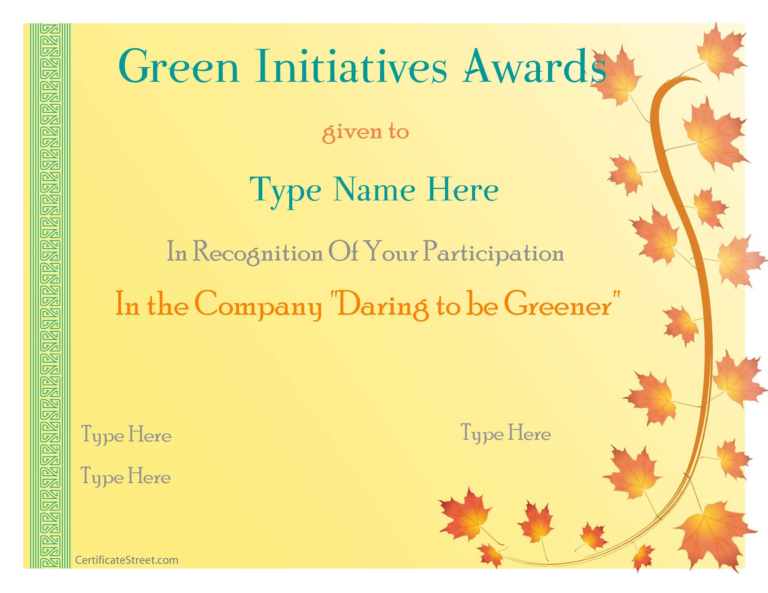 Free Award Template 07