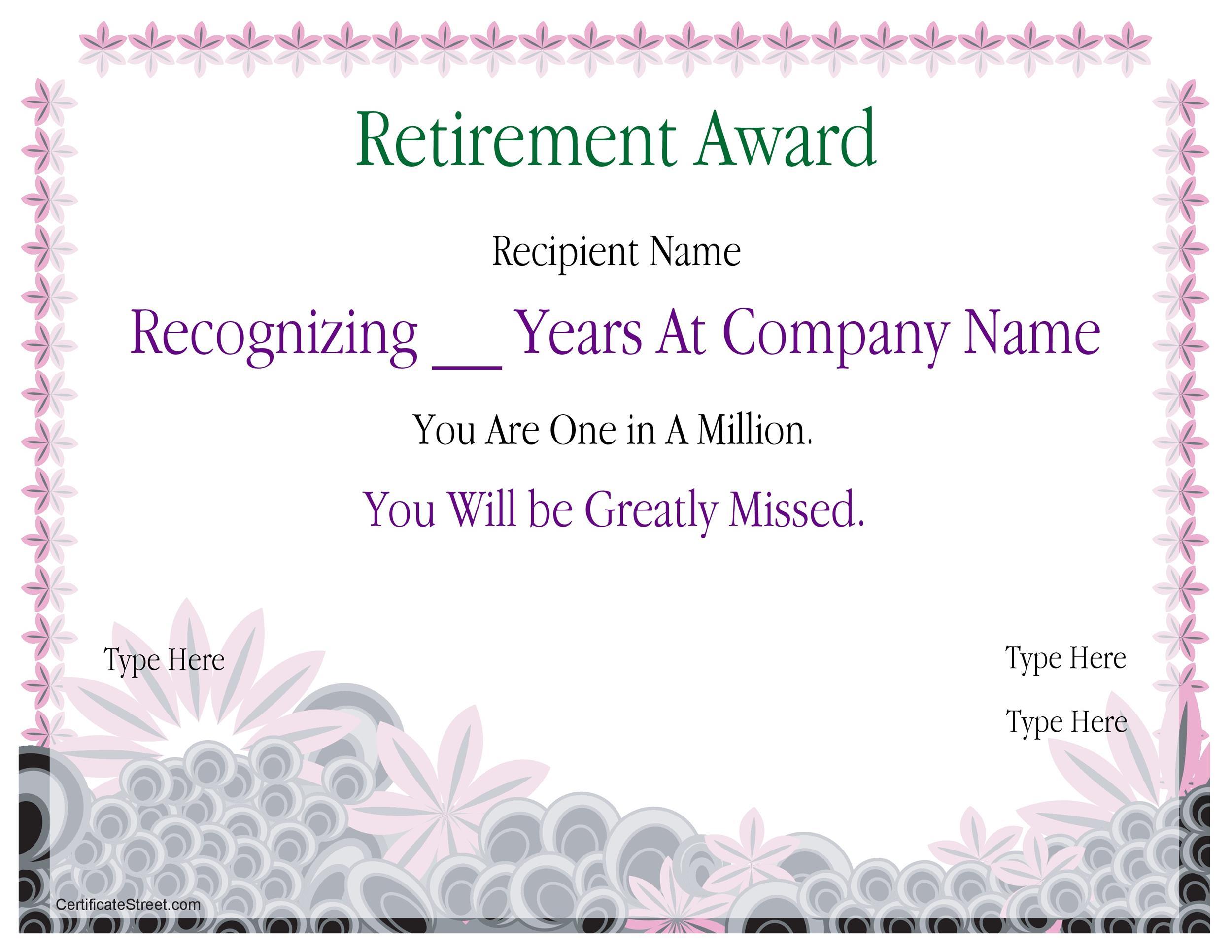 Free Award Template 13