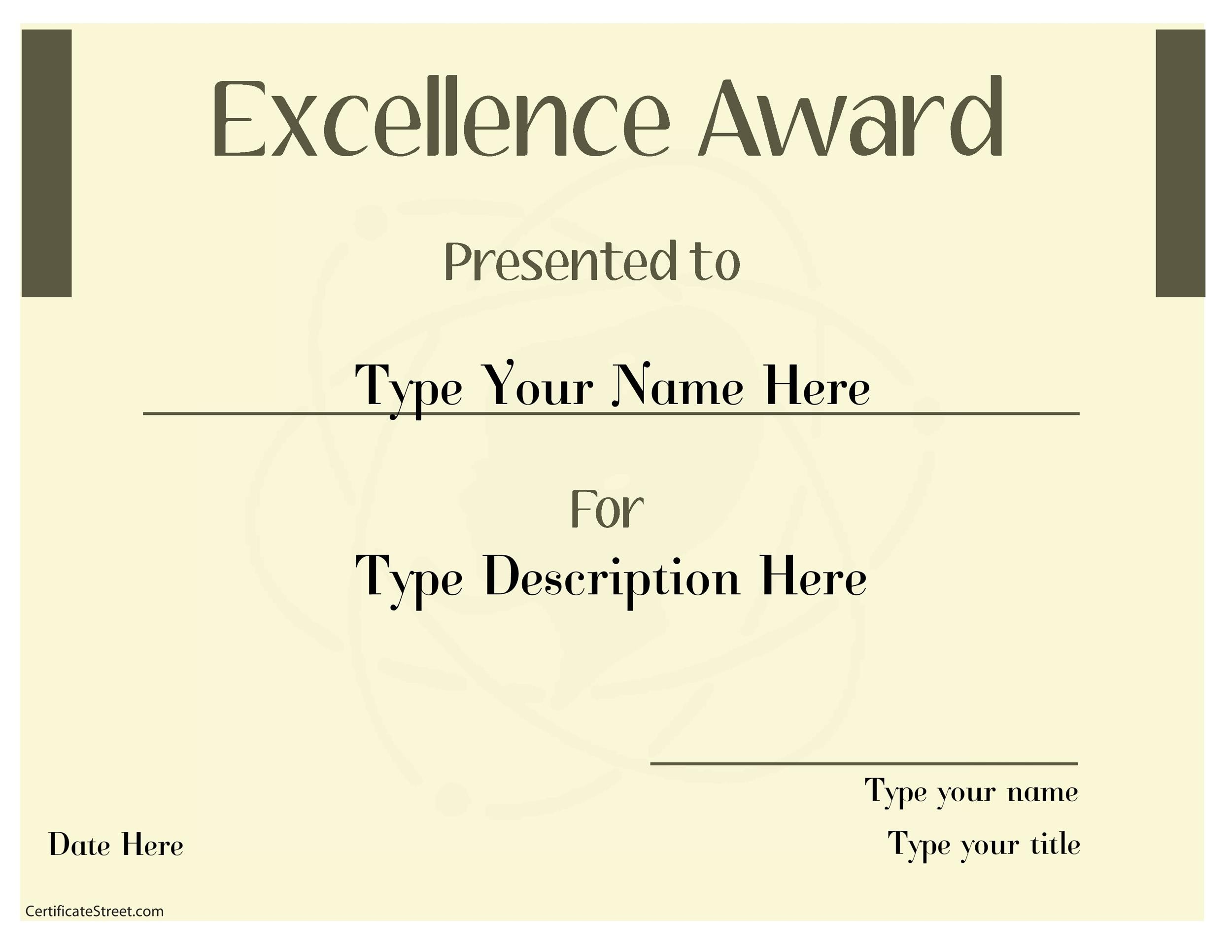 free award template 16 printable award template 16