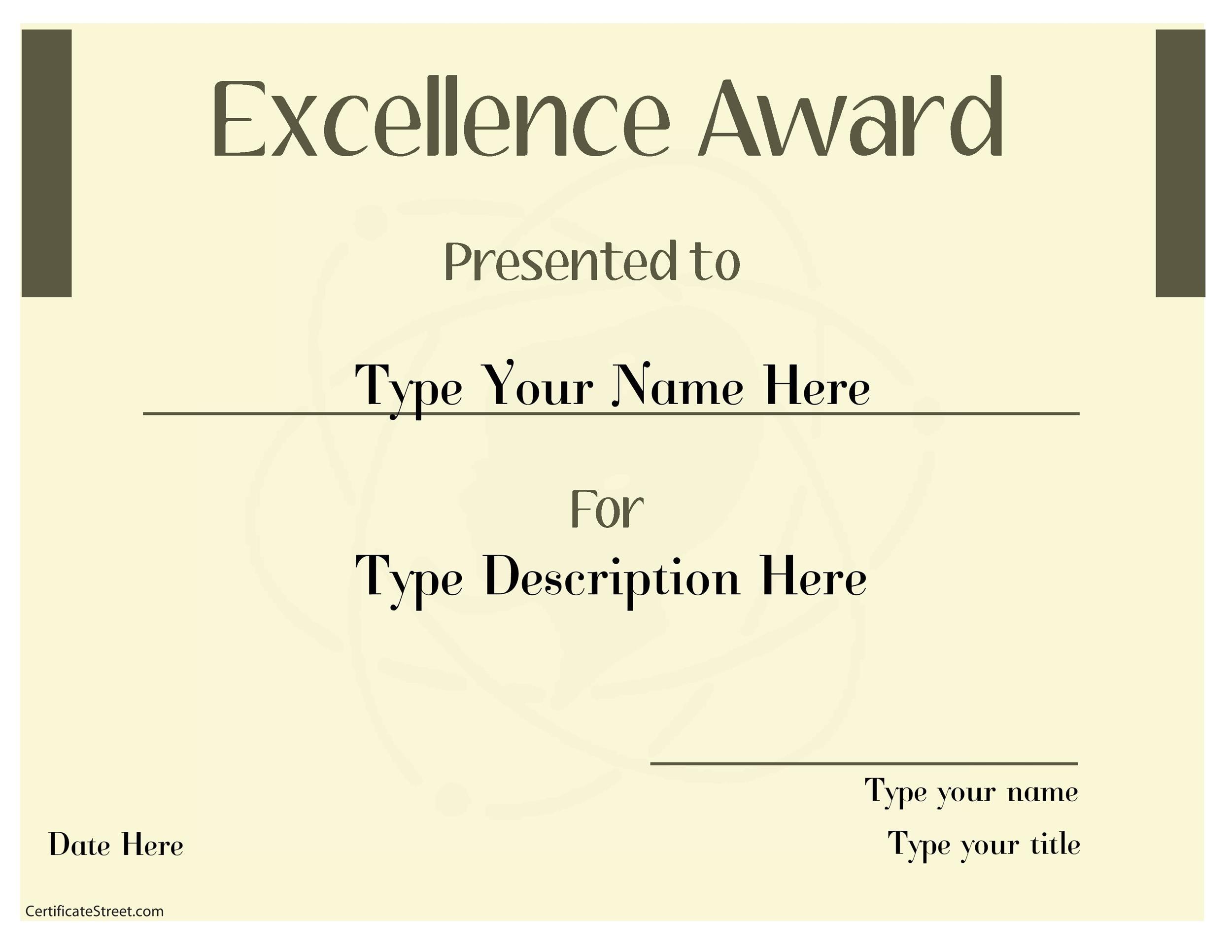 Free Award Template 16