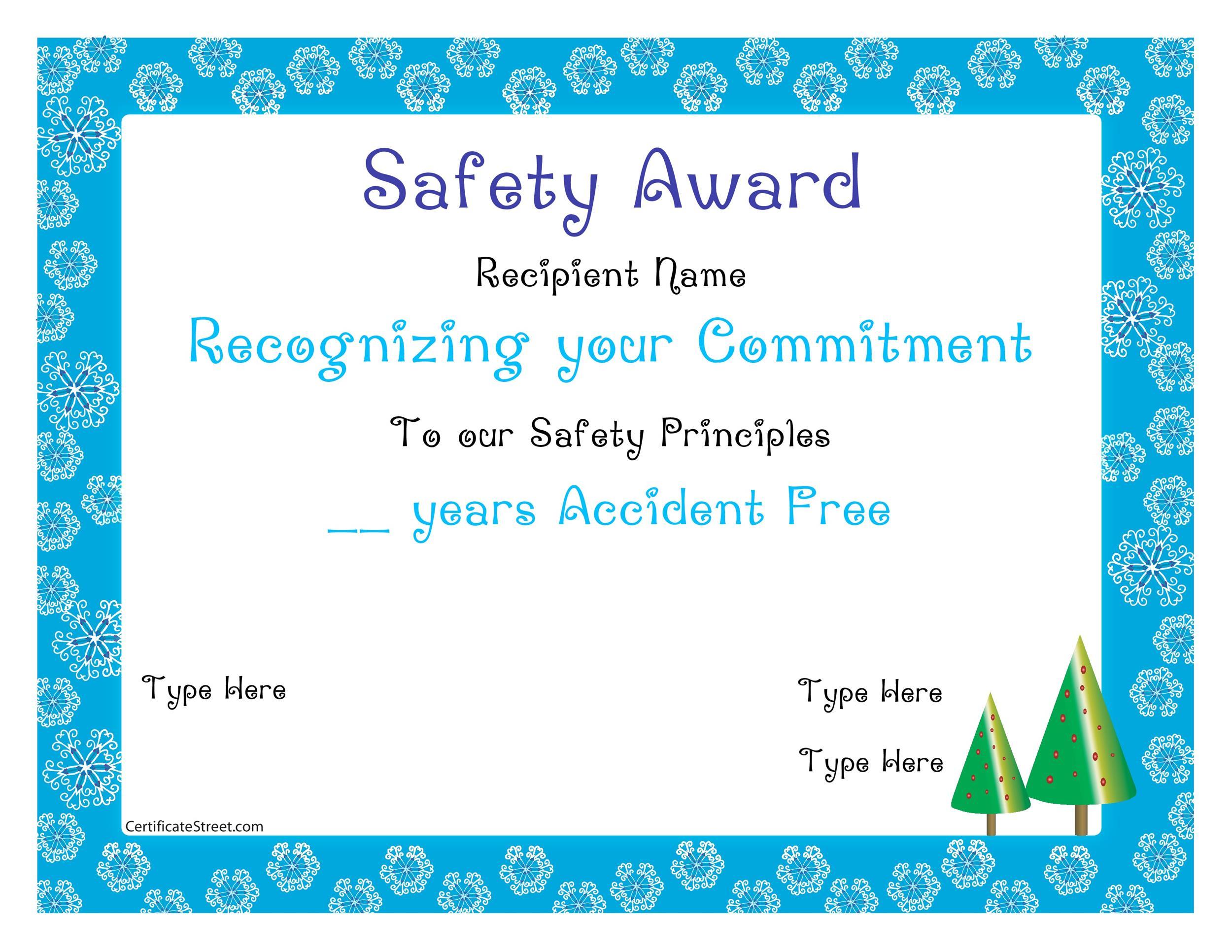 Free Award Template 18