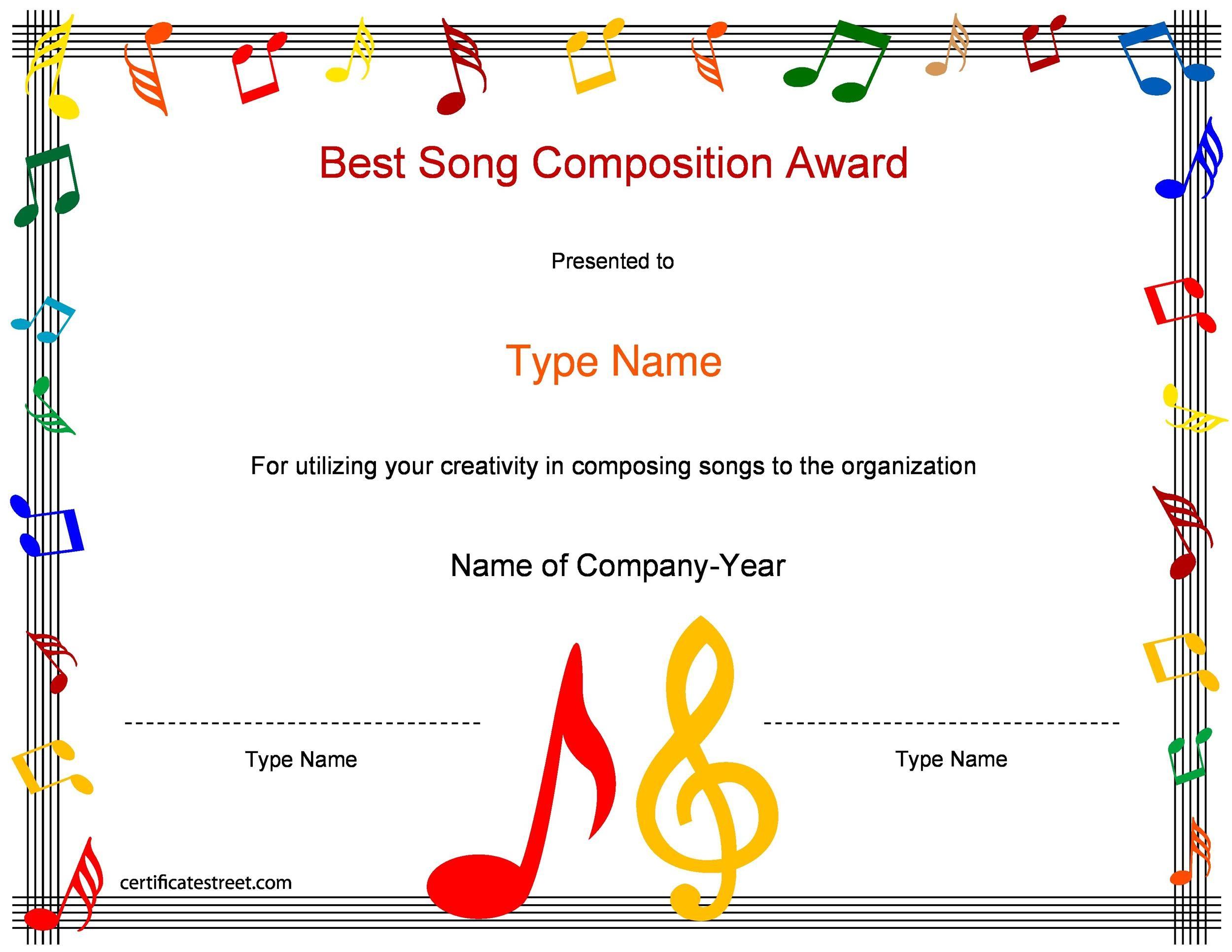 Free Award Template 22