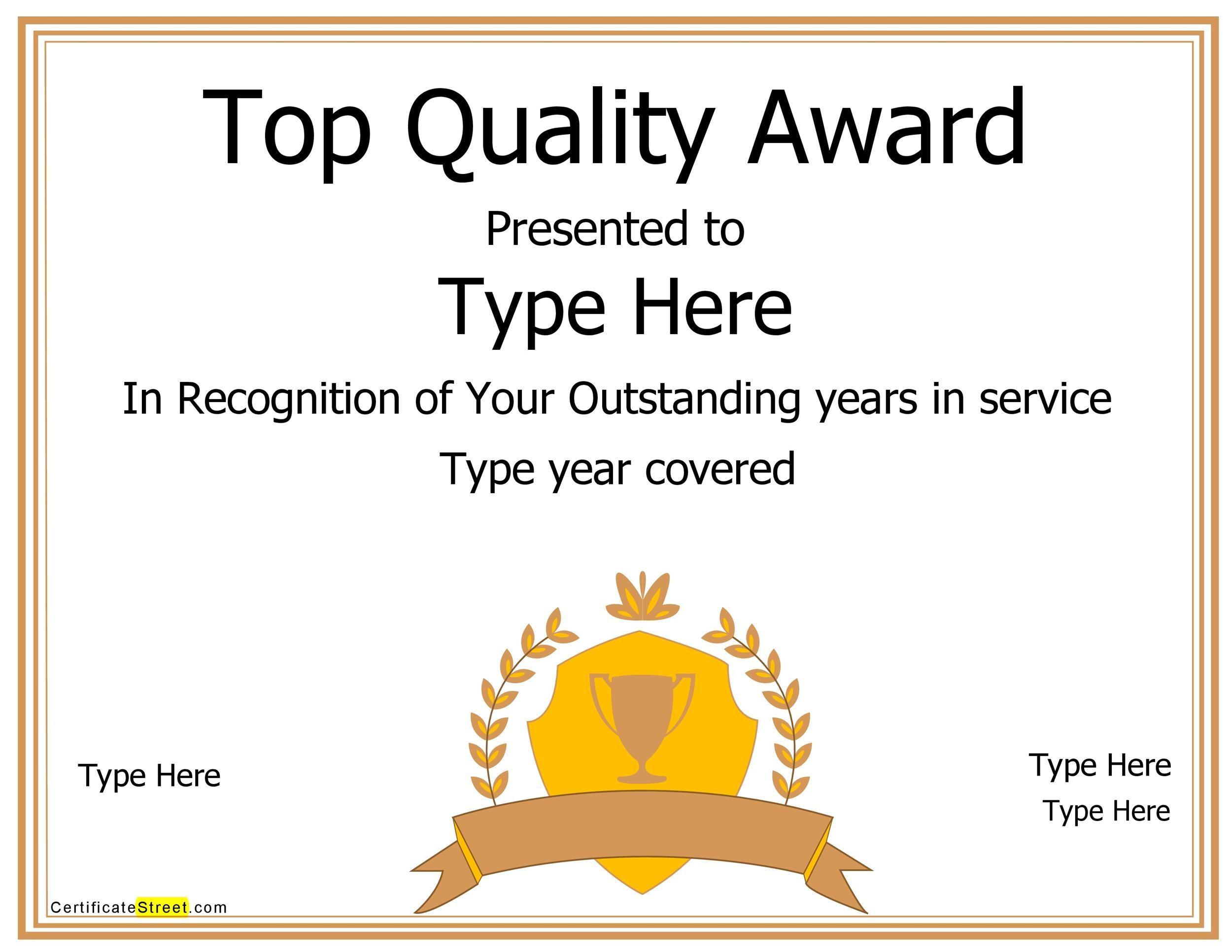Free Award Template 25