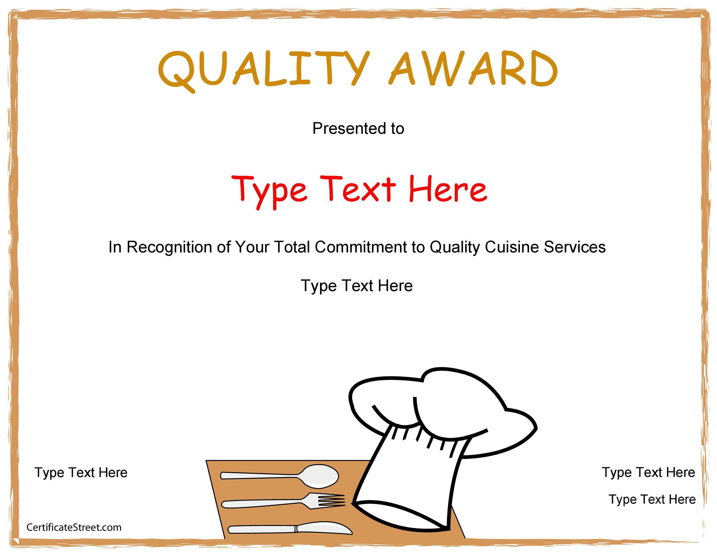 Free Award Template 26