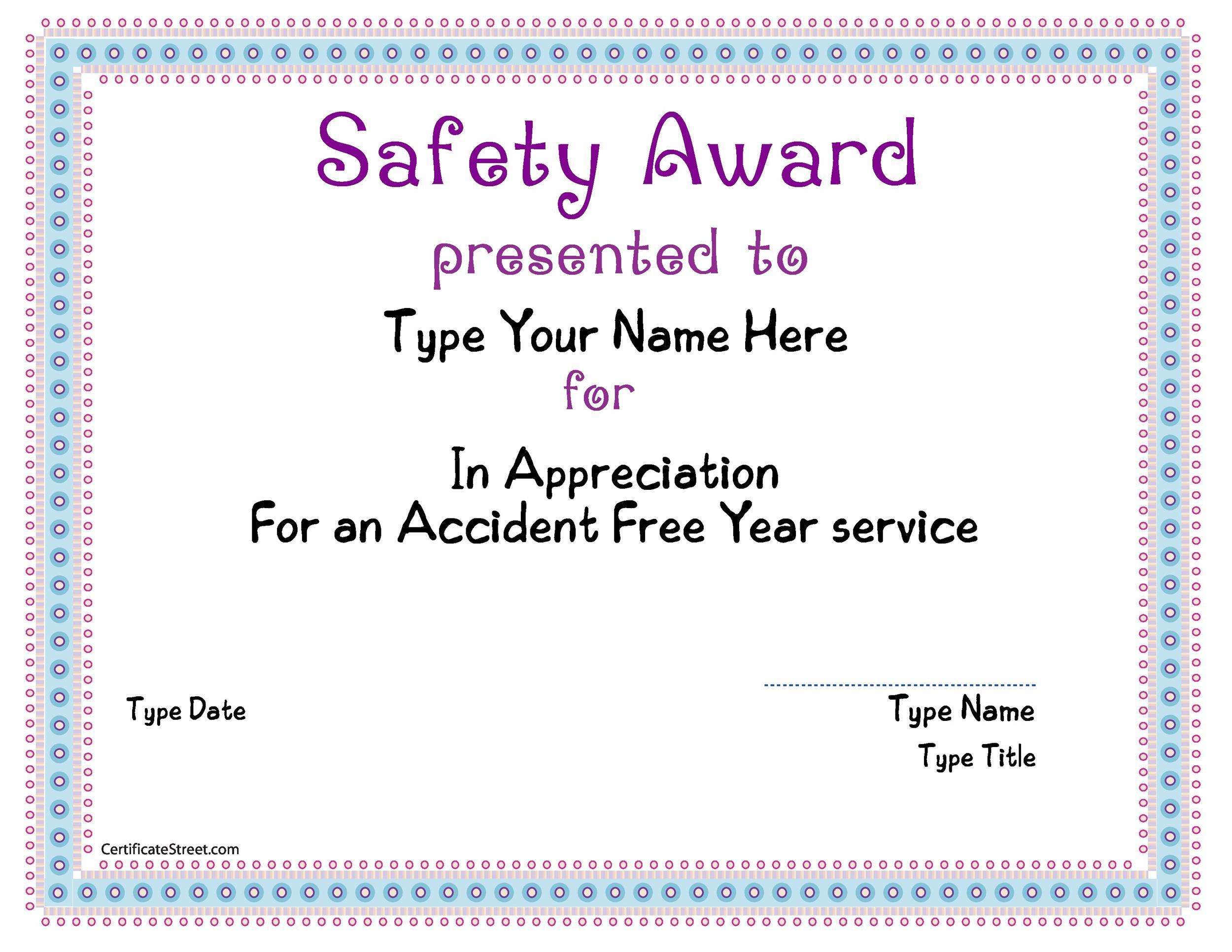 Free Award Template 27