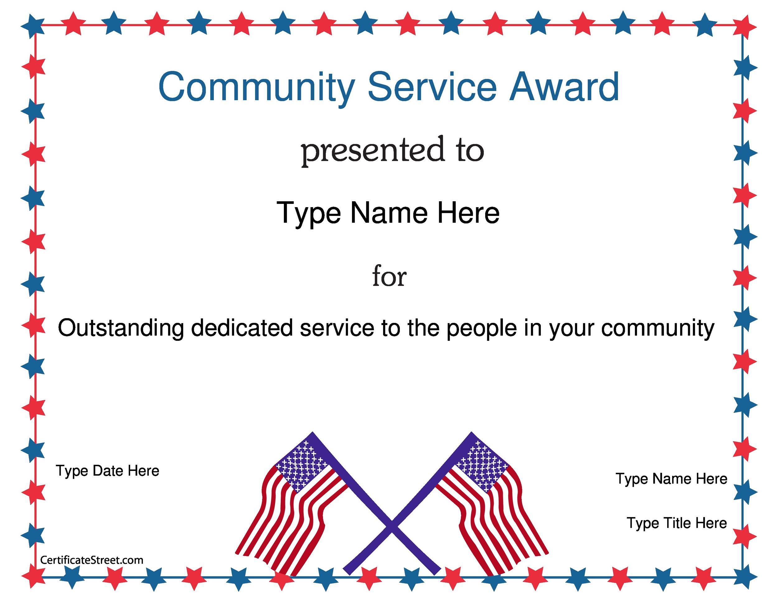 Free Award Template 31