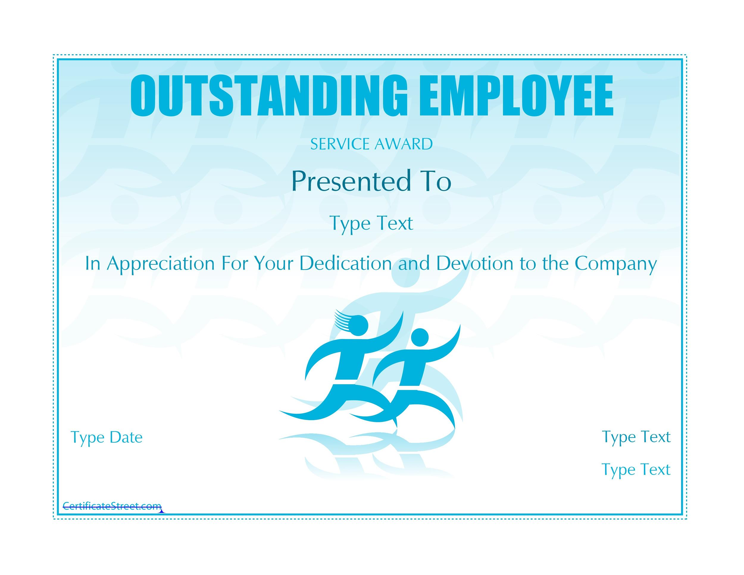 free award template 32 - Employee Of The Year Certificate Free Template