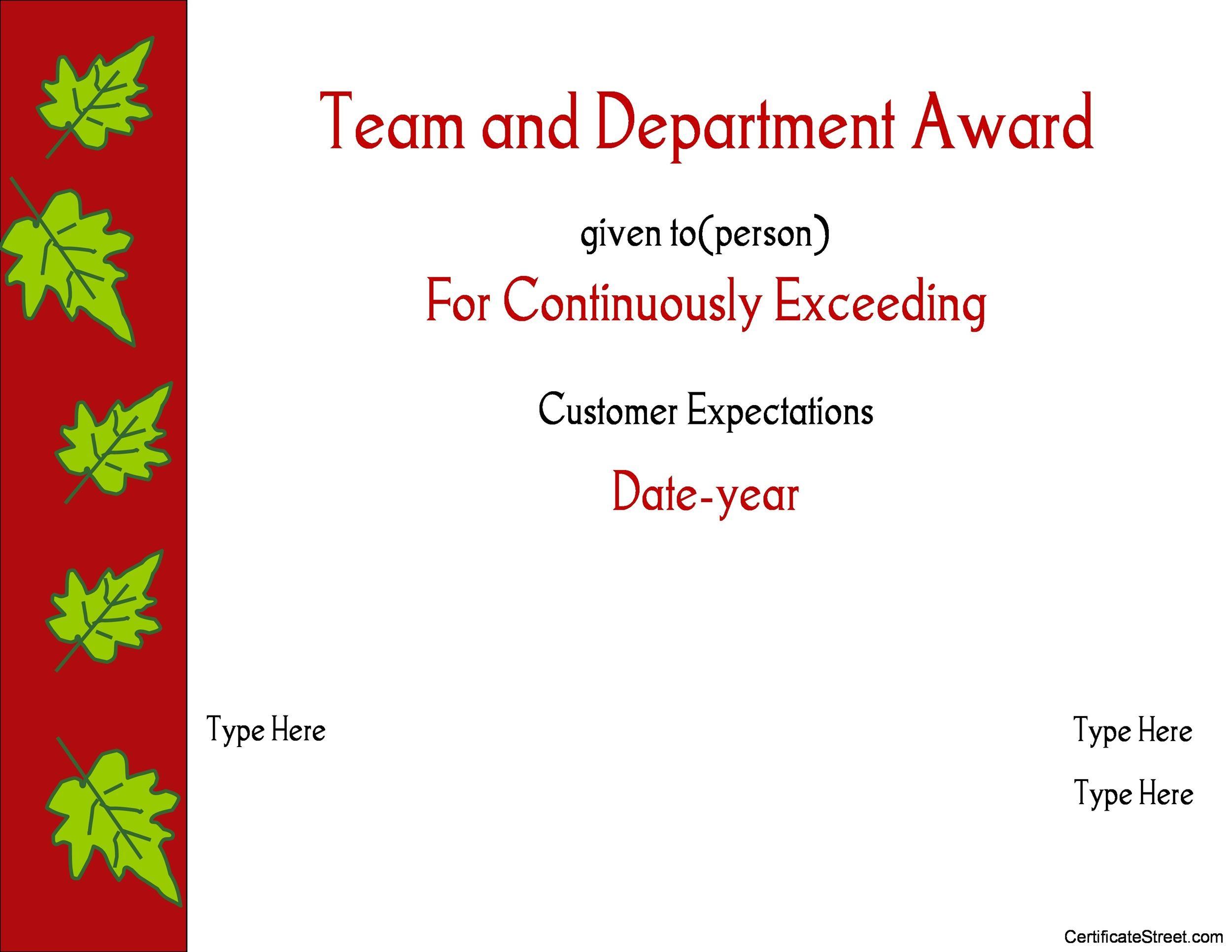 Free Award Template 34