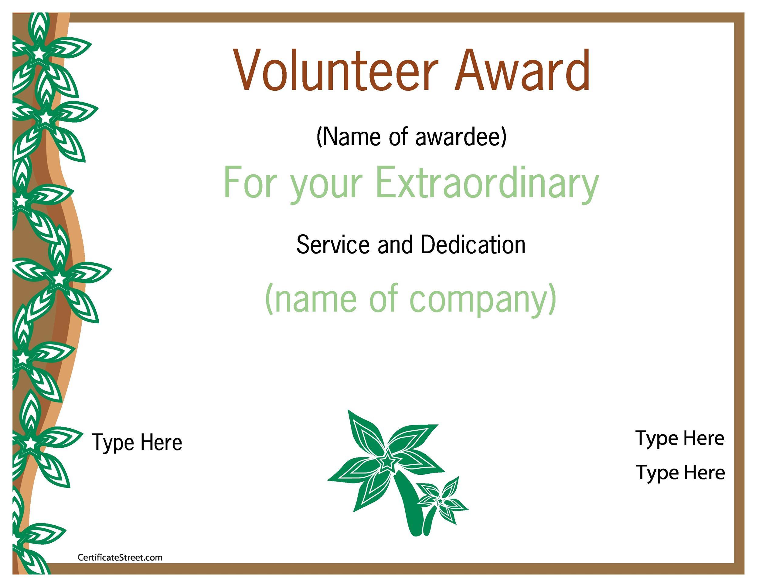 Free Award Template 35