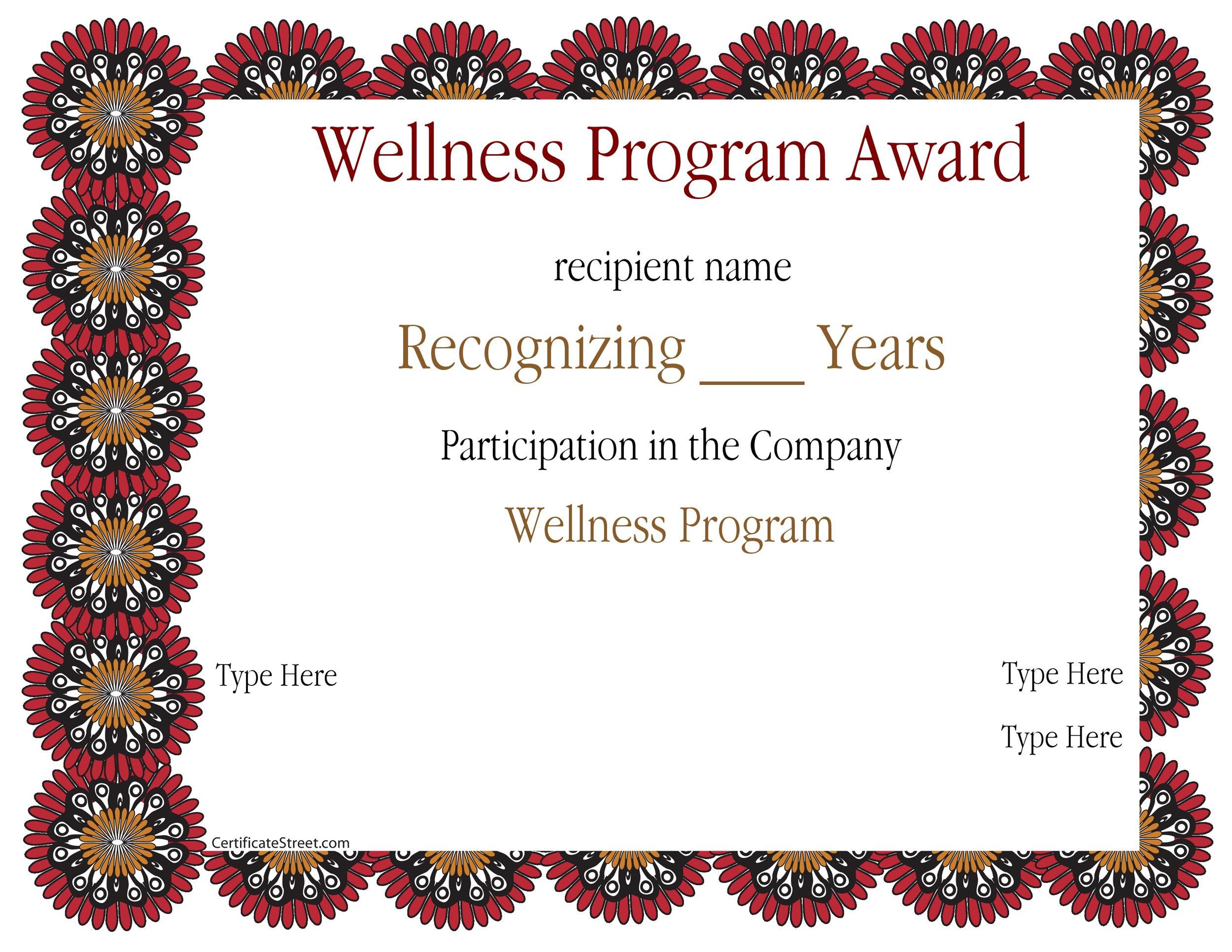 Free Award Template 36