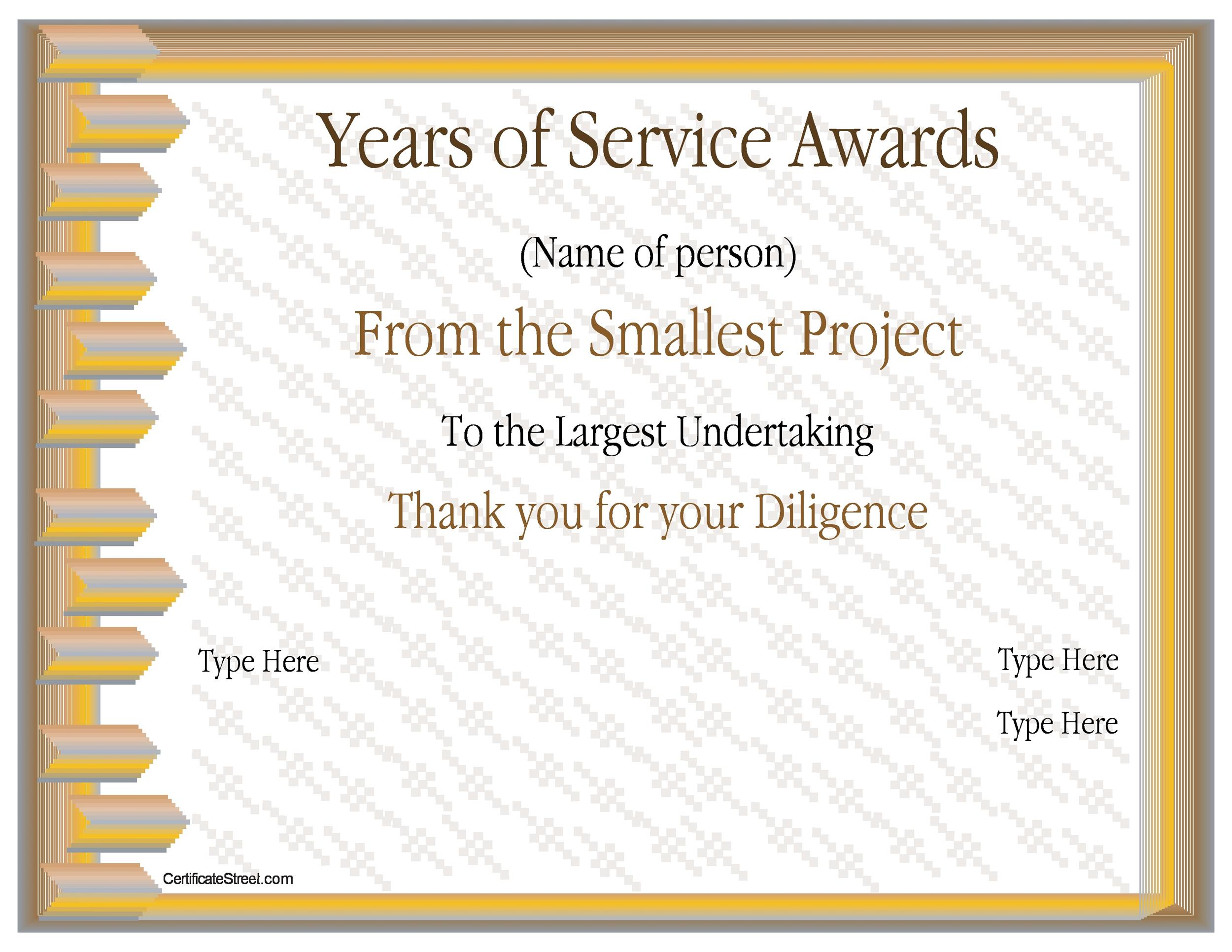 50 amazing award certificate templates template lab for Service anniversary certificate templates