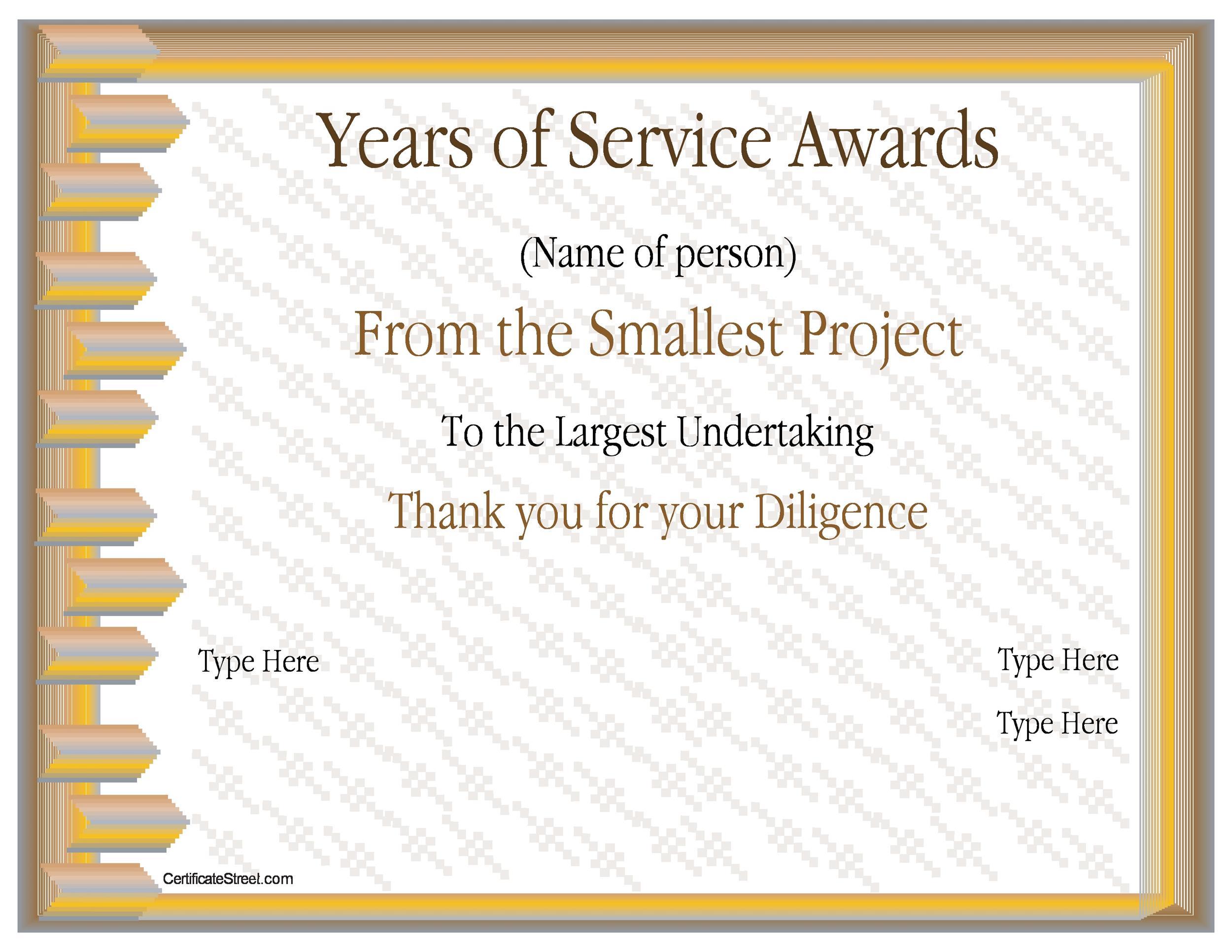 Free Award Template 37