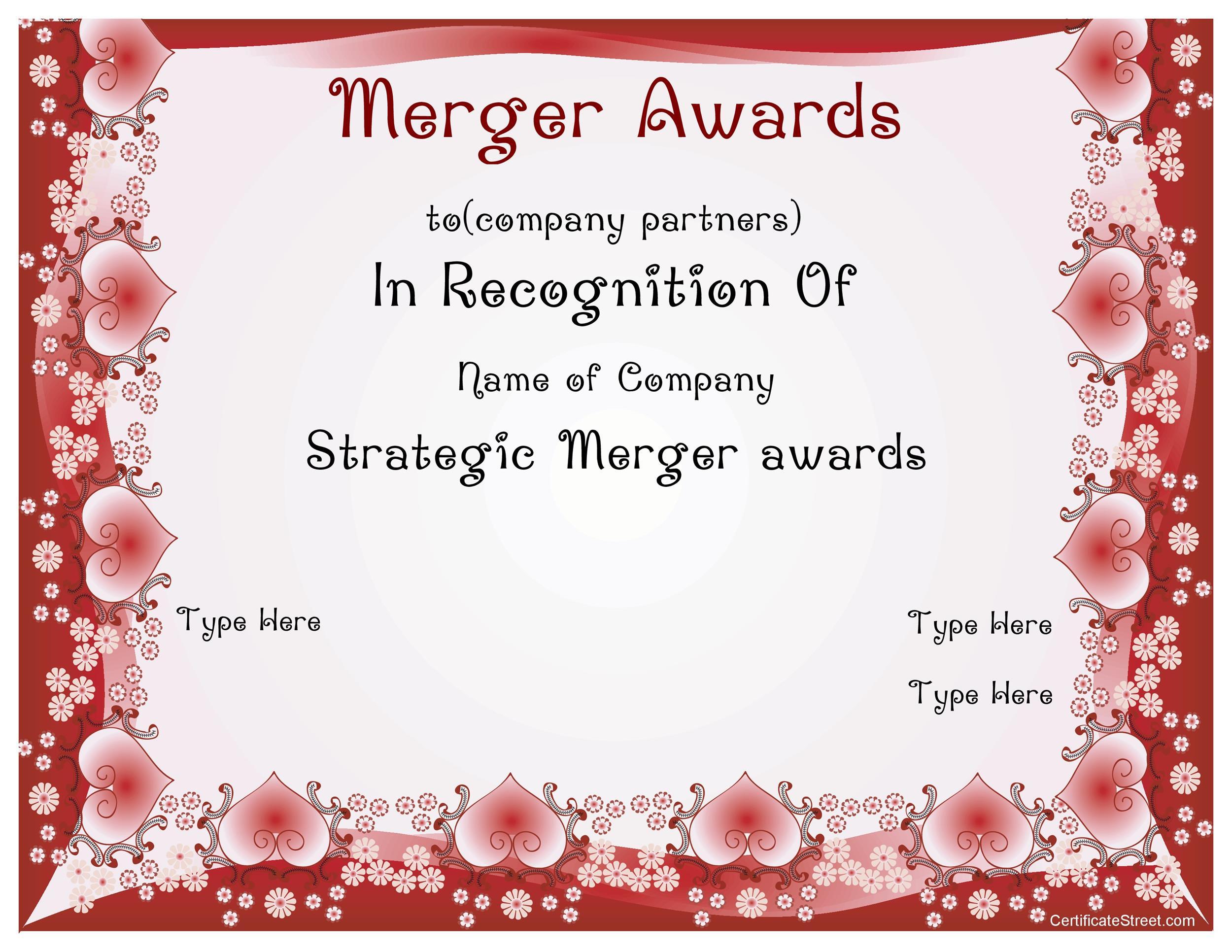 Free Award Template 38
