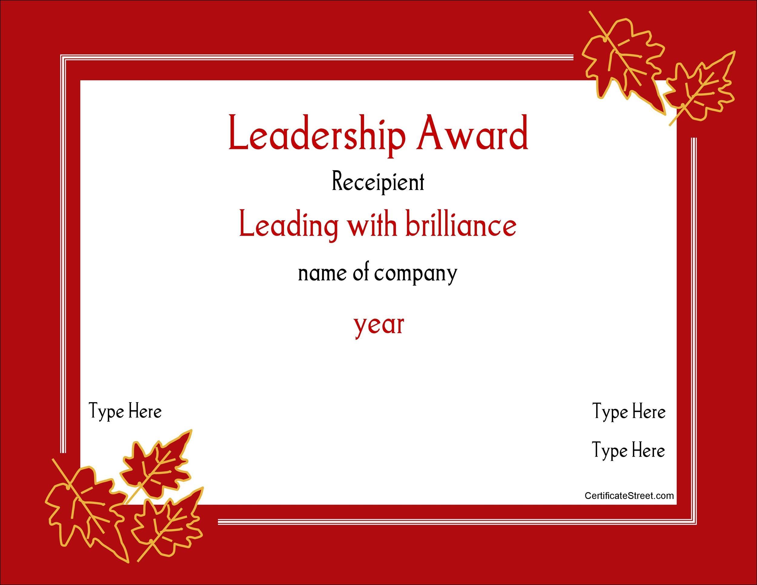 Free Award Template  41