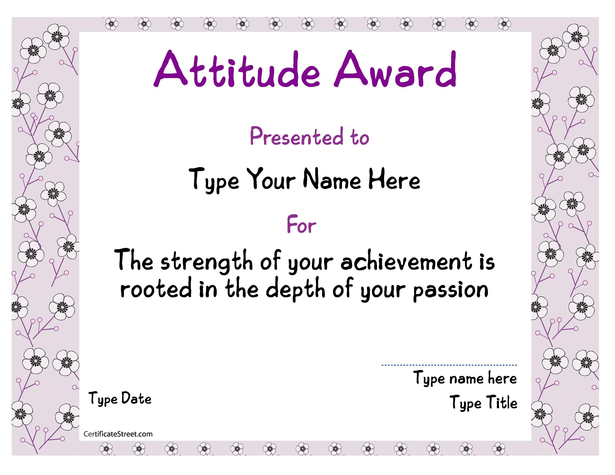 free award template 42 printable award template 42