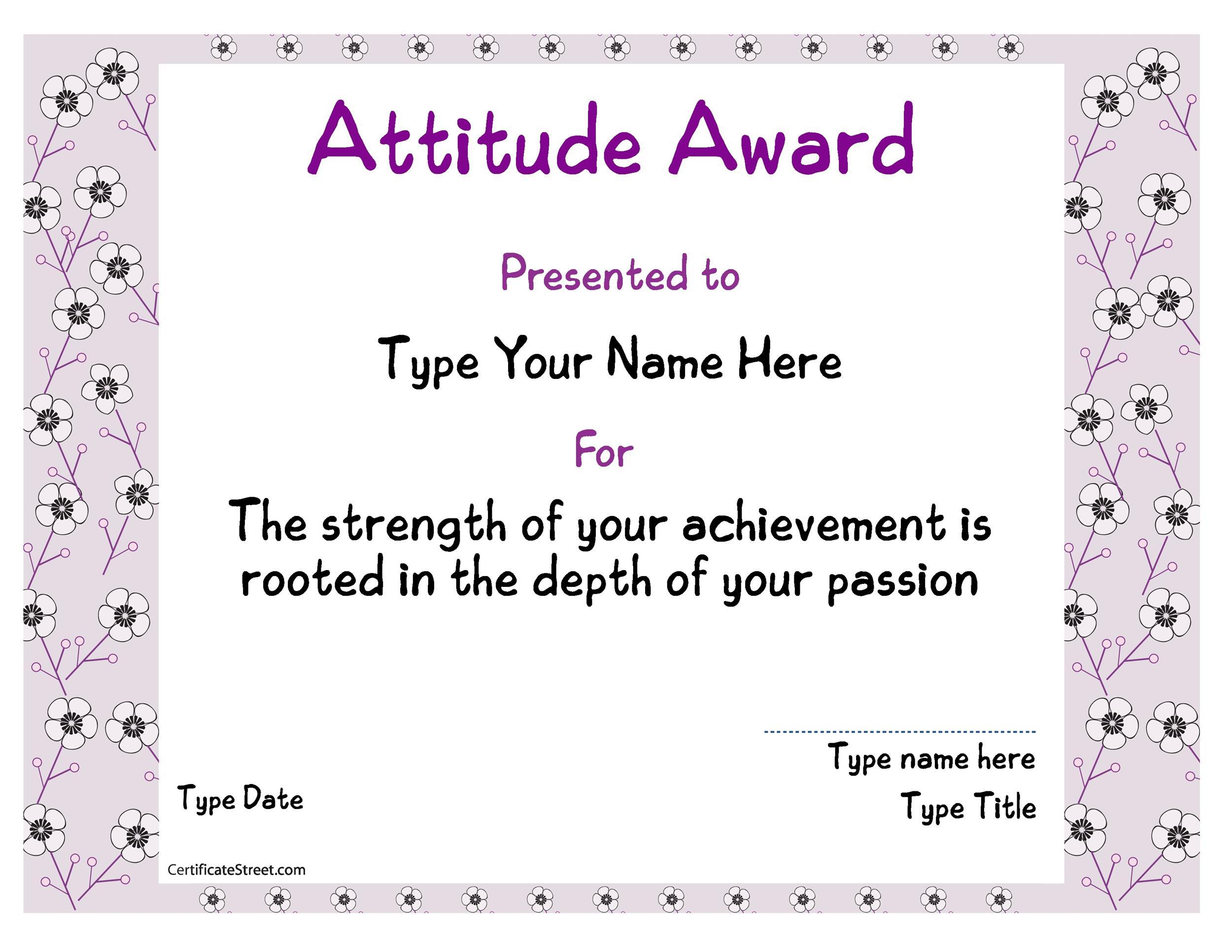 Free Award Template 42