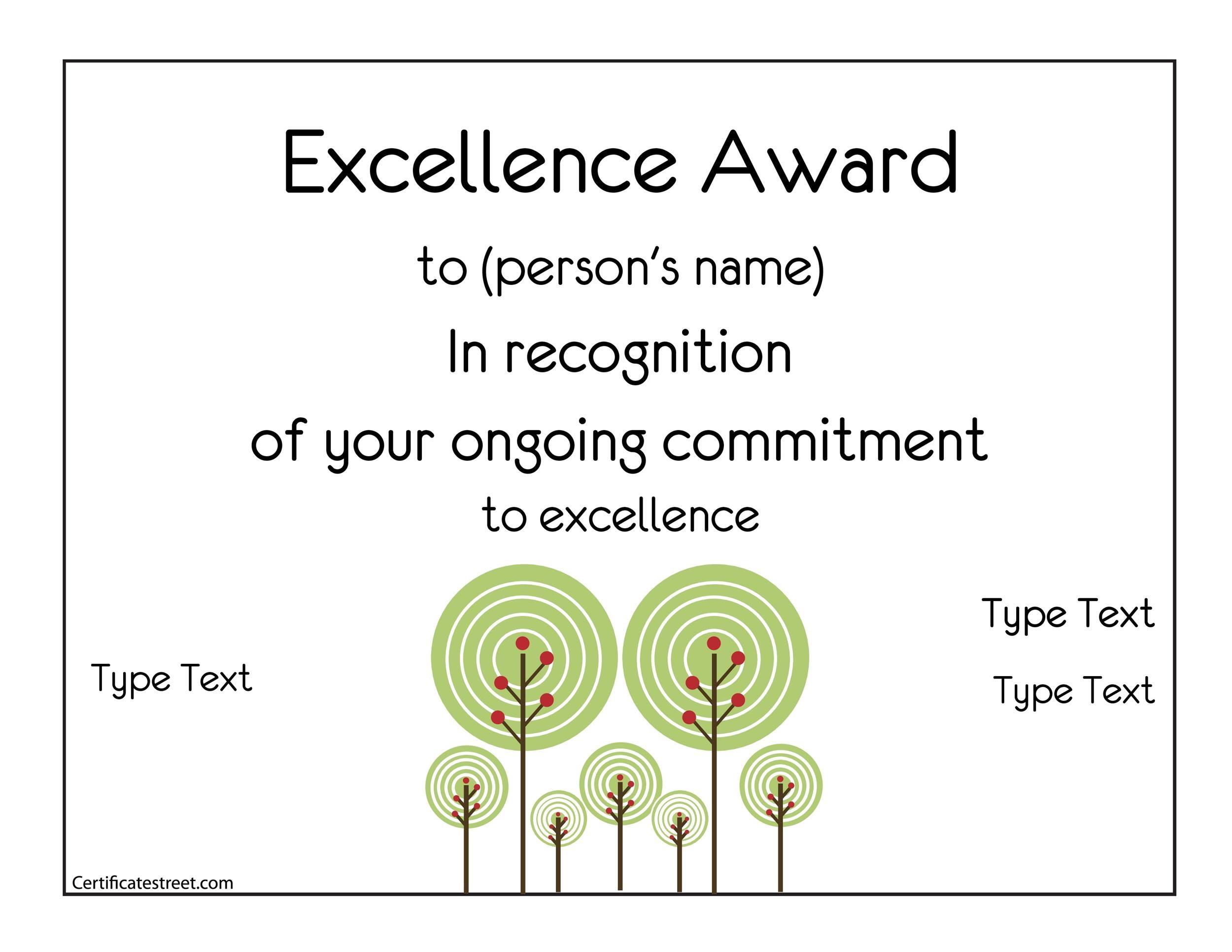 Free Award Template 43