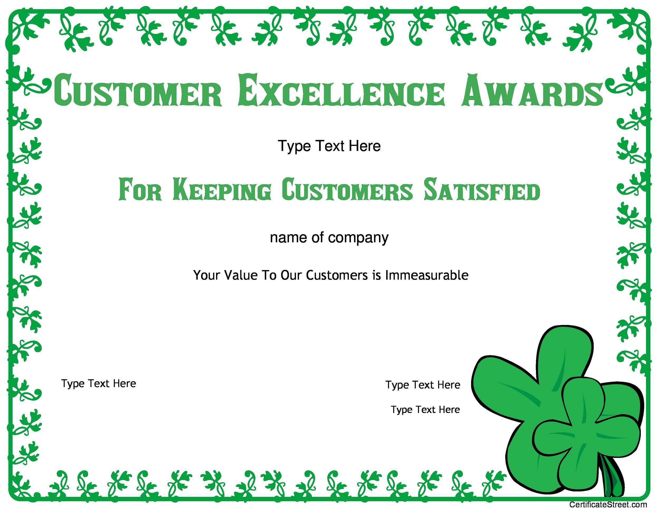 Free Award Template 45