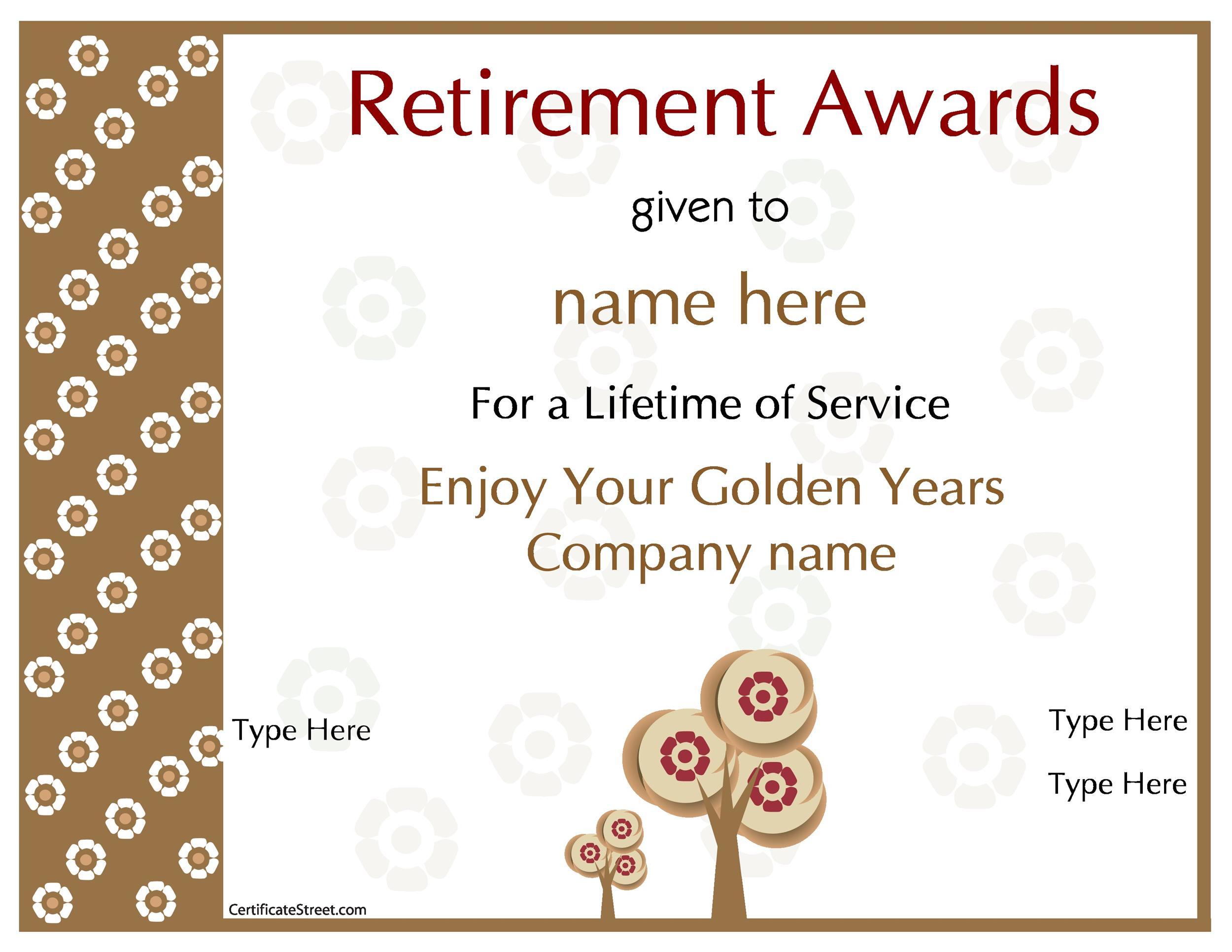 Free Award Template 47