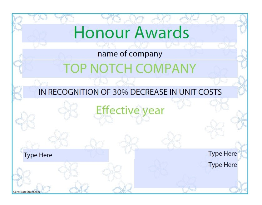 Free Award Template 48